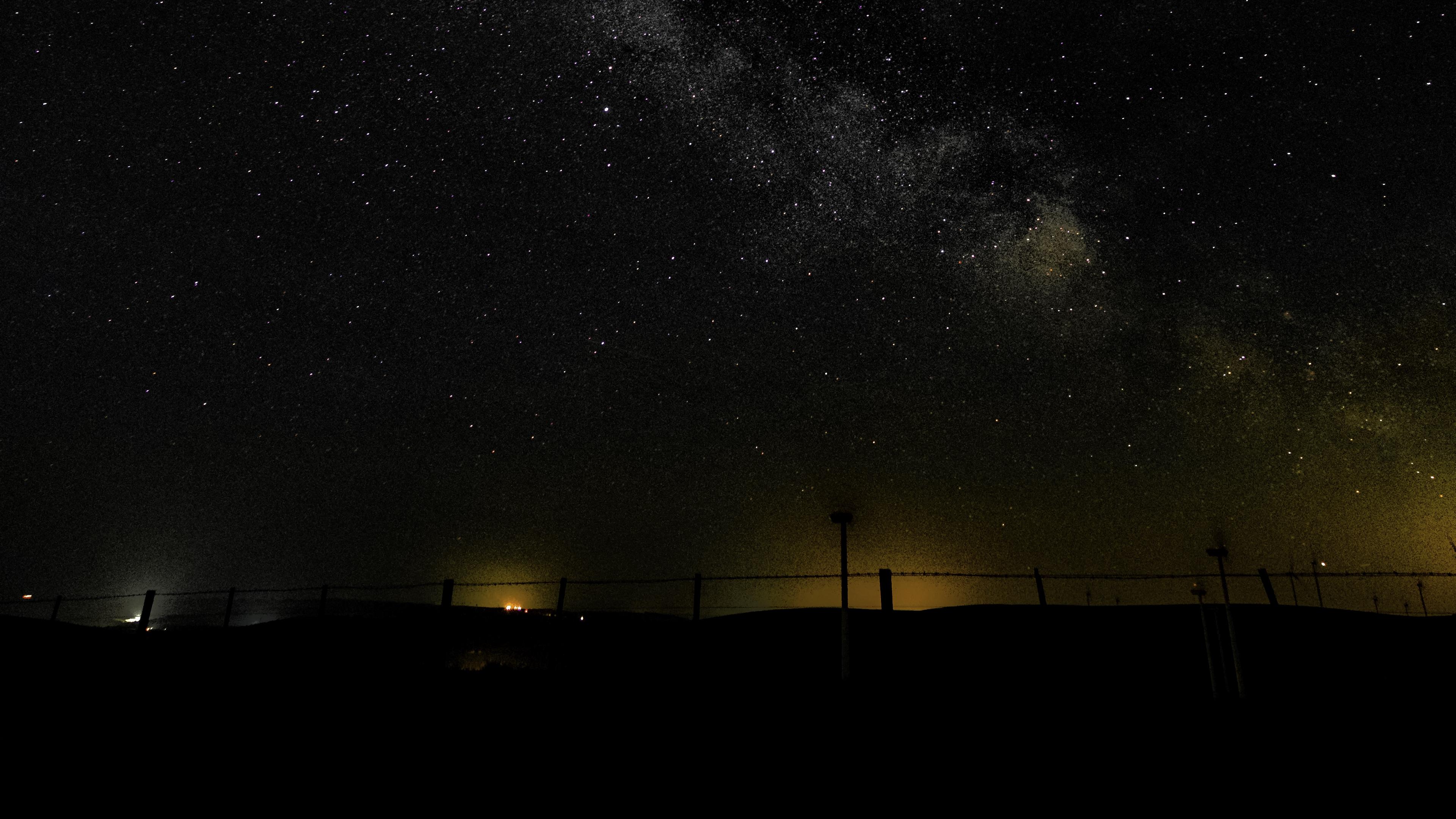 milky way starry sky night horizon radiance 4k 1540576102 - milky way, starry sky, night, horizon, radiance 4k - starry sky, Night, milky way