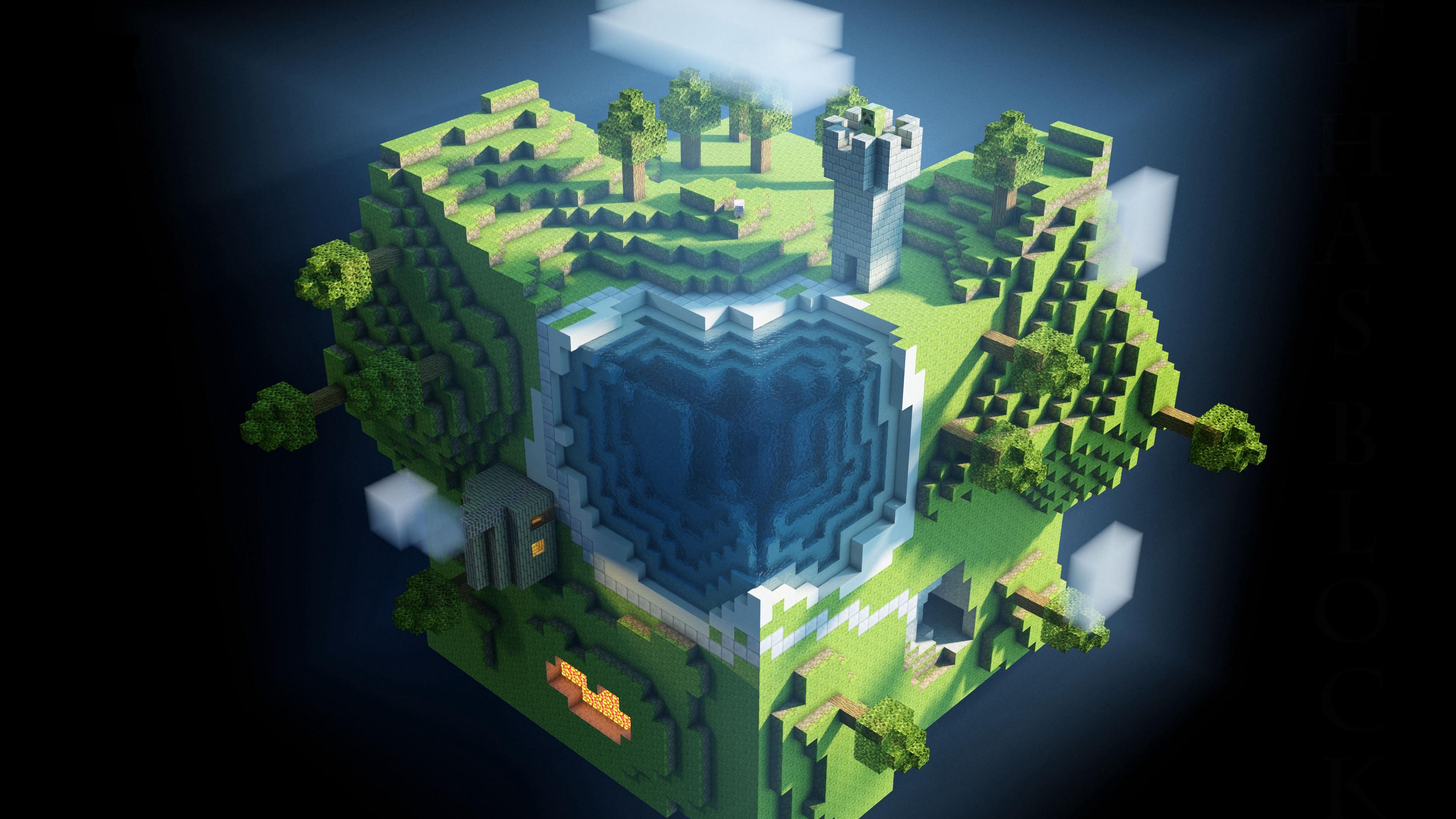 minecraft planet cube cubes world 4k 1538945022 - minecraft, planet, cube, cubes, world 4k - Planet, minecraft, Cube