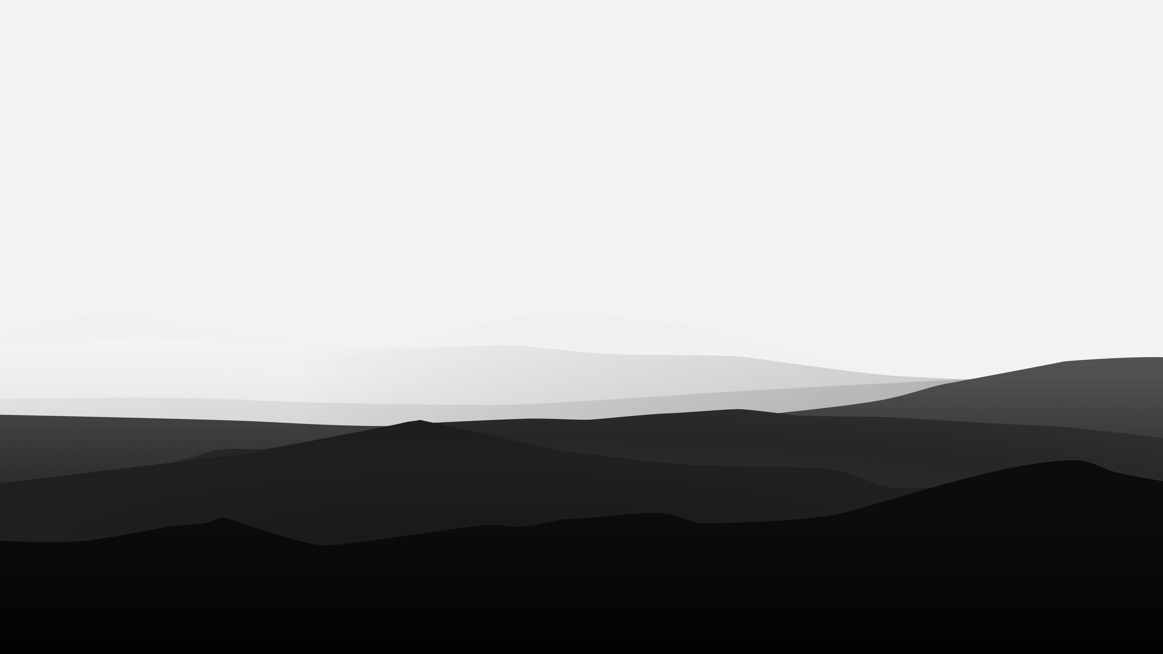 Wallpaper 4k Minimalist Mountains Black And White 4k Black And