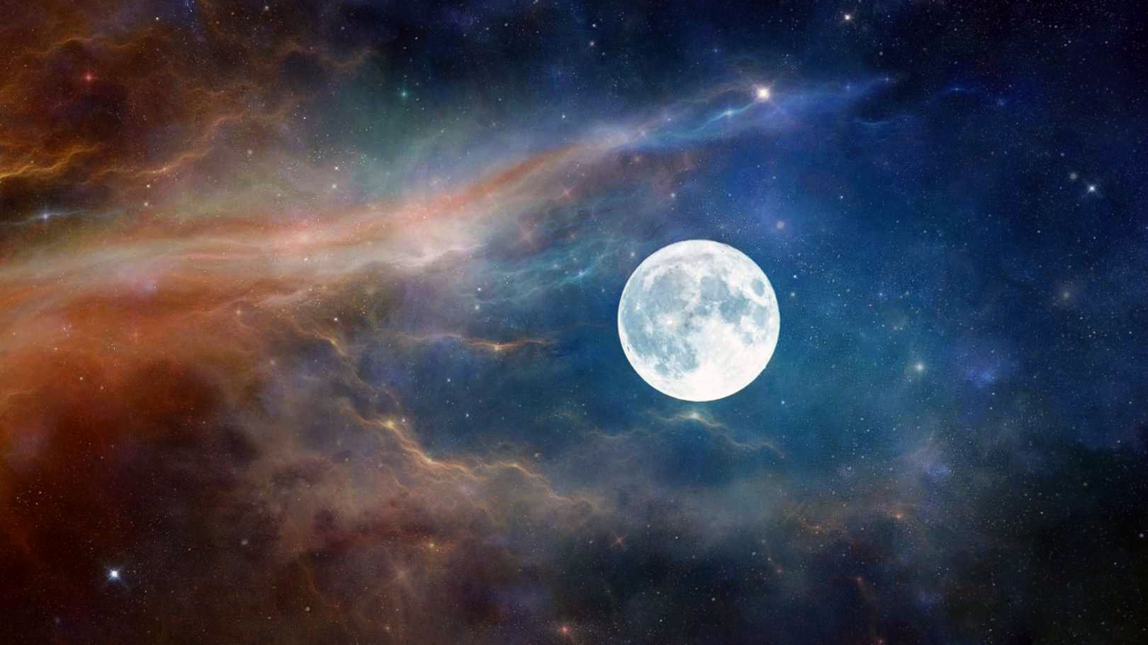 Wallpaper 4k Moon Astronaut Nature Clouds Space 4k Clouds