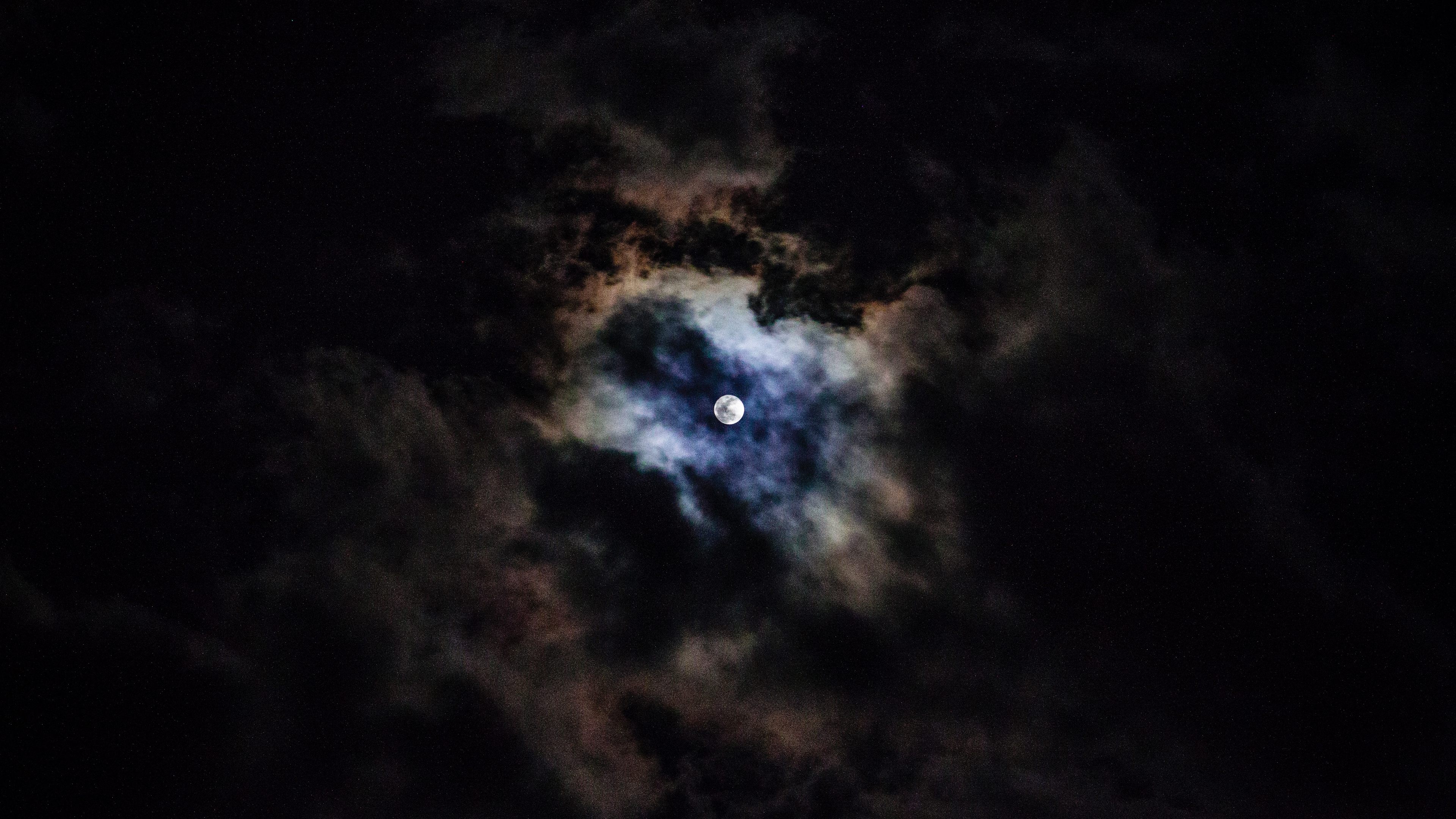 Wallpaper 4k Moon Night Clouds 4k Clouds Moon Night