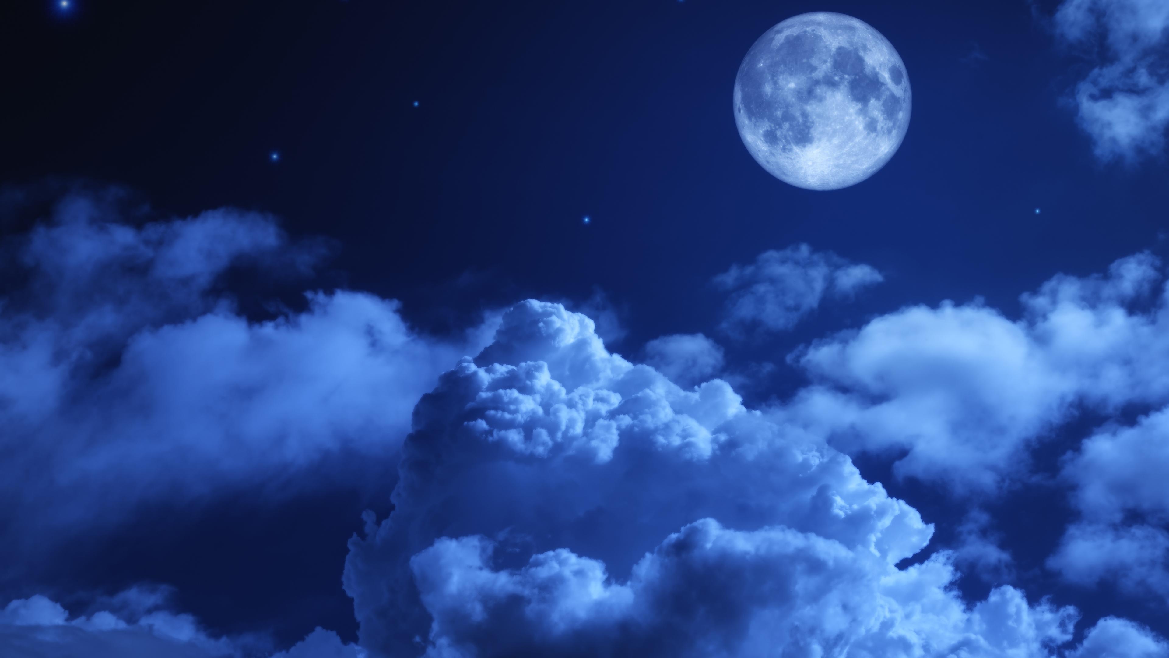 moon night sky clouds 4k 1540136749 - Moon Night Sky Clouds 4k - sky wallpapers, night wallpapers, moon wallpapers, hd-wallpapers, clouds wallpapers, 5k wallpapers, 4k-wallpapers