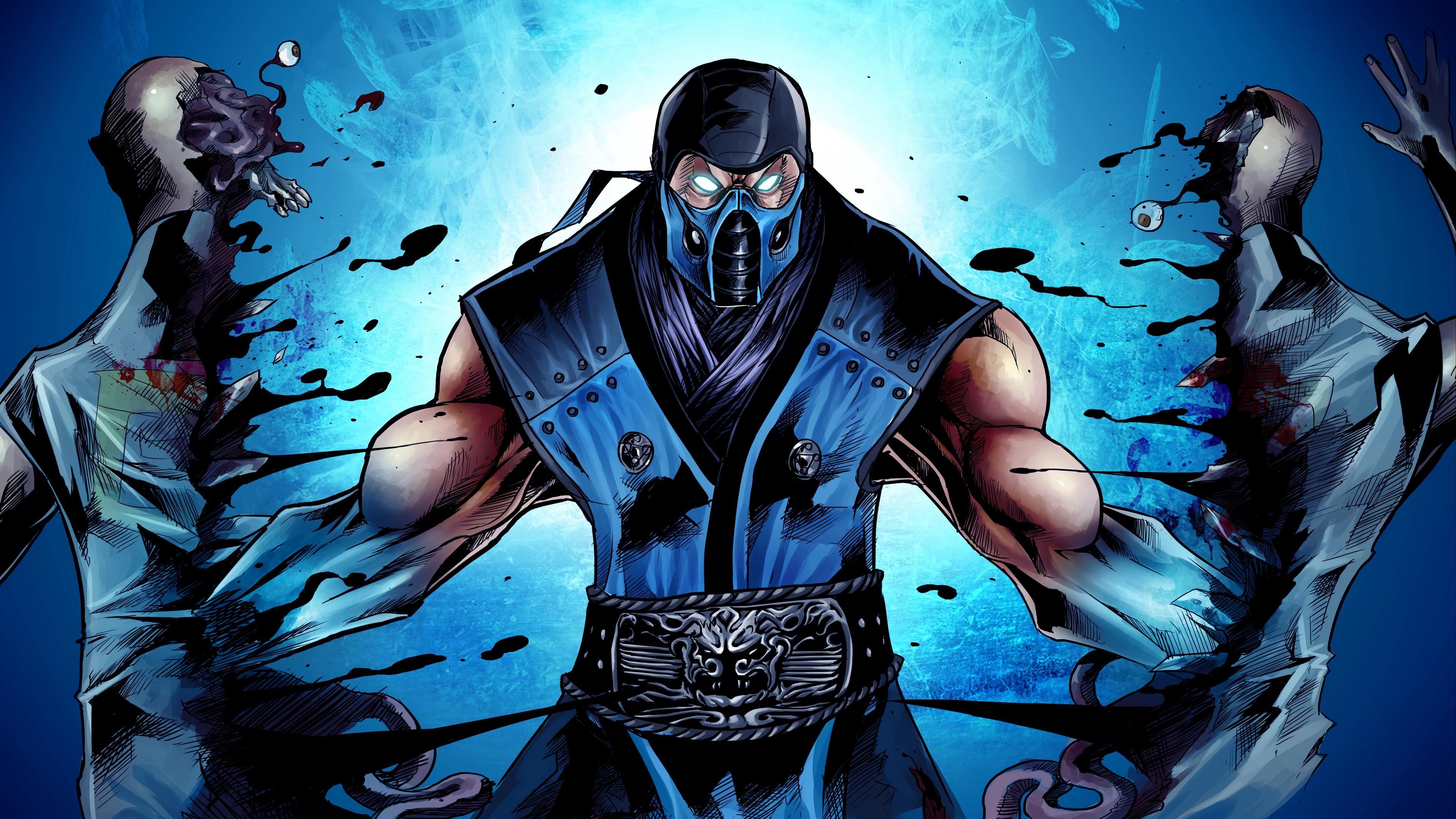 mortal kombat sub zero ninja art 4k 1538944918 - mortal kombat, sub-zero, ninja, art 4k - sub-zero, Ninja, mortal kombat