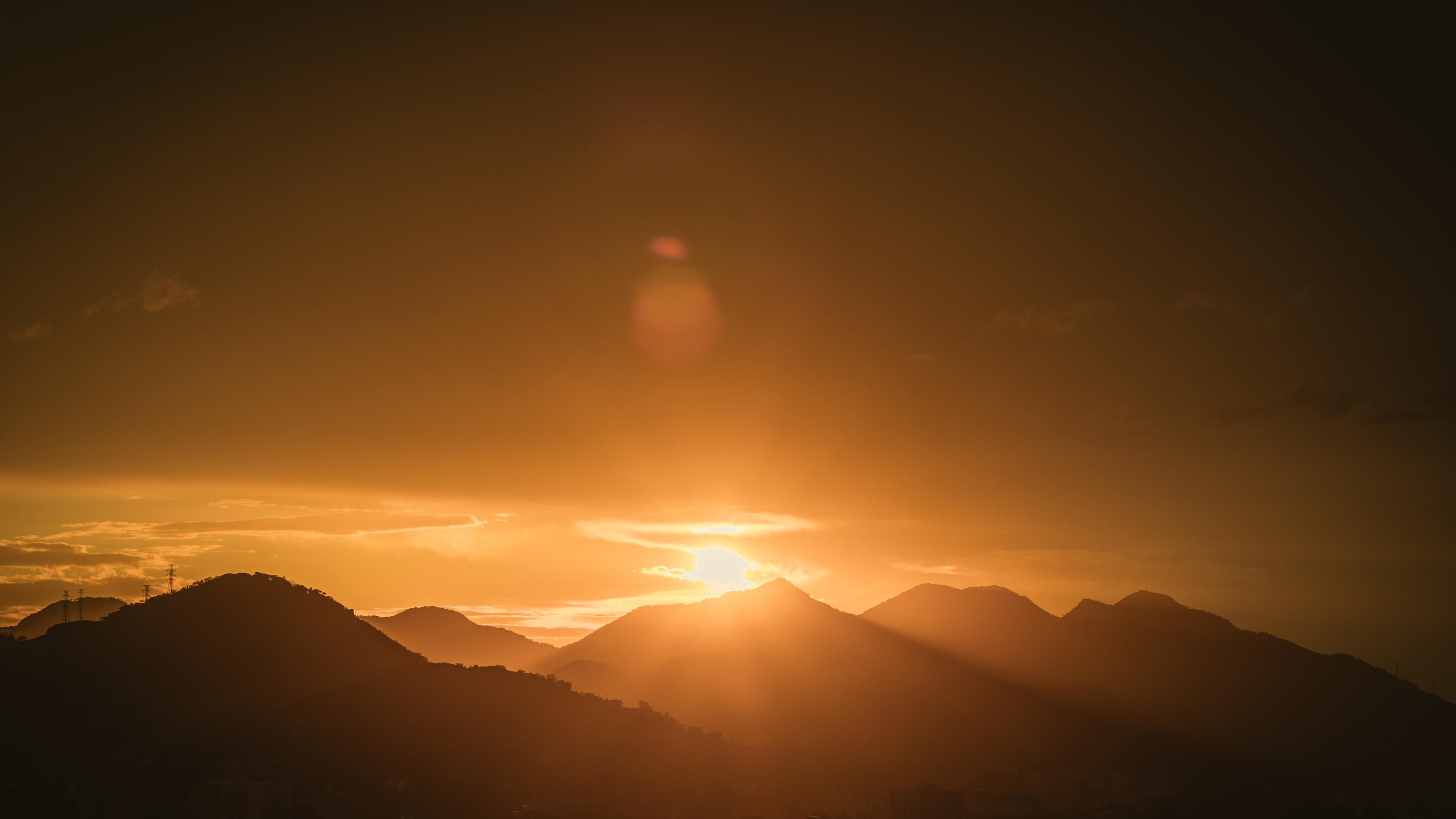 mountain range during golden hour 4k 1540135891 - Mountain Range During Golden Hour 4k - silhouette wallpapers, nature wallpapers, mountain wallpapers, hd-wallpapers, 5k wallpapers, 4k-wallpapers