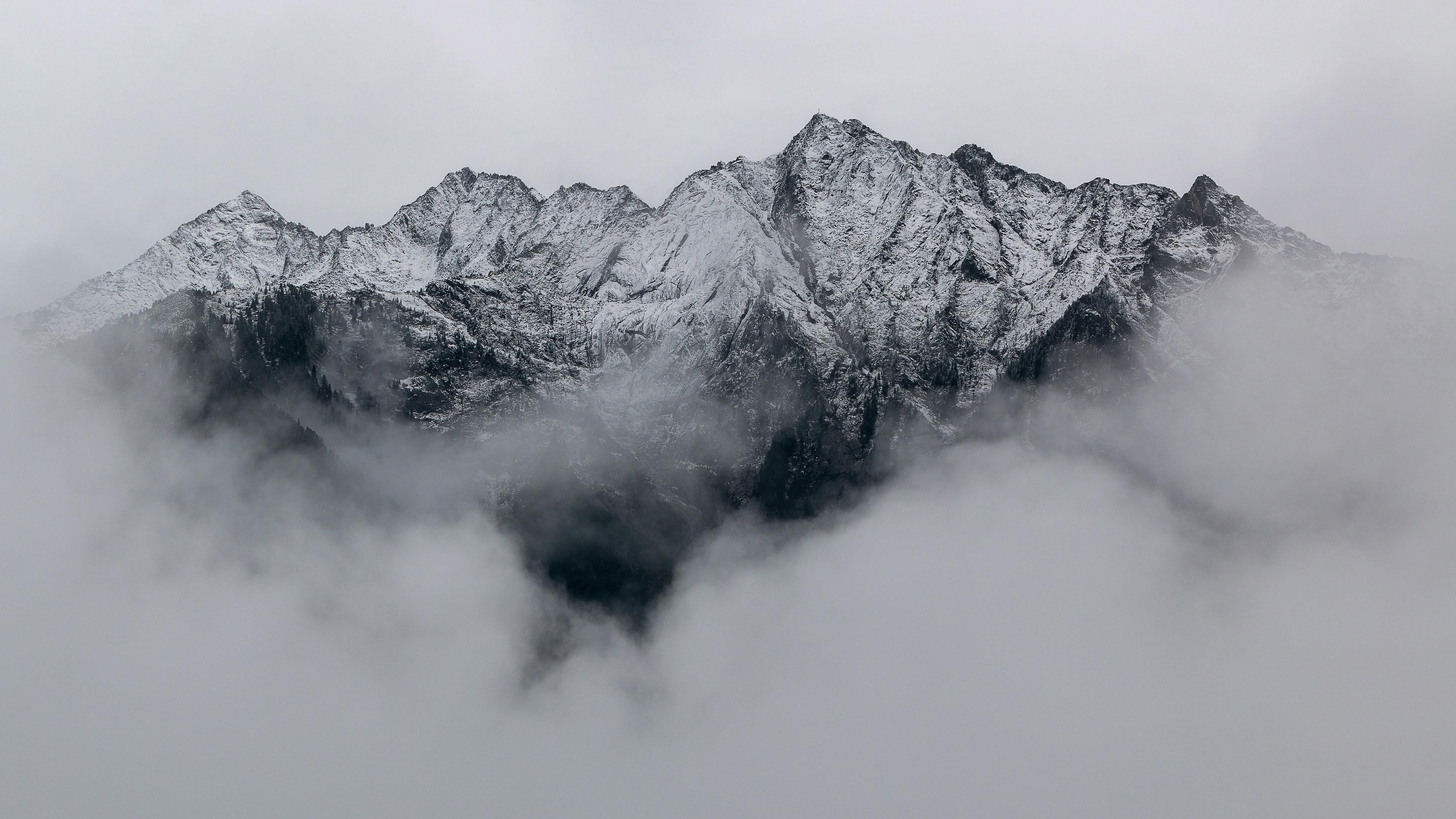 Wallpaper 4k Mountains Covered In Snow 4k 4k Wallpapers 5k