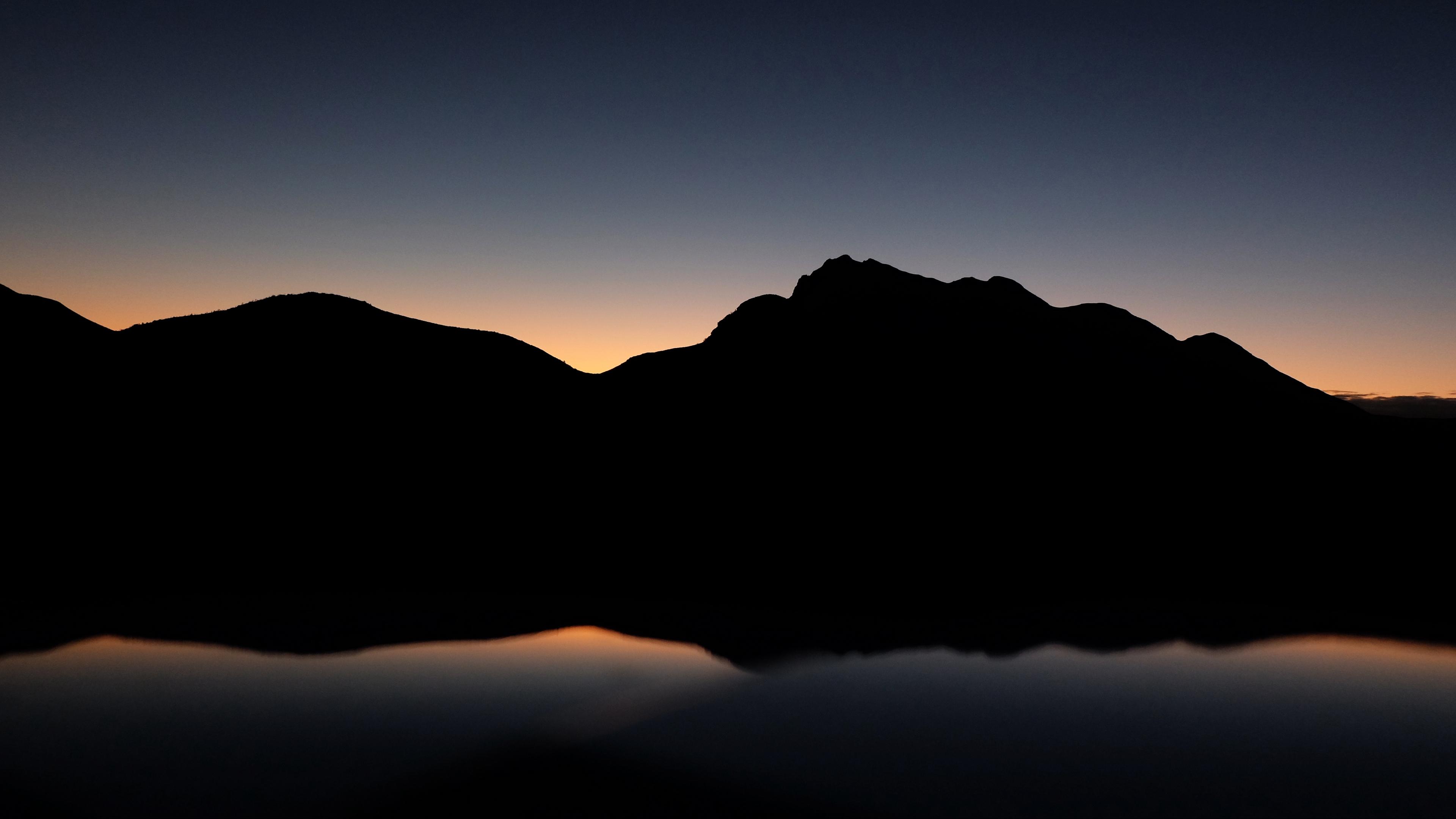 mountains hill dark 4k 1540574390 - mountains, hill, dark 4k - Mountains, hill, Dark