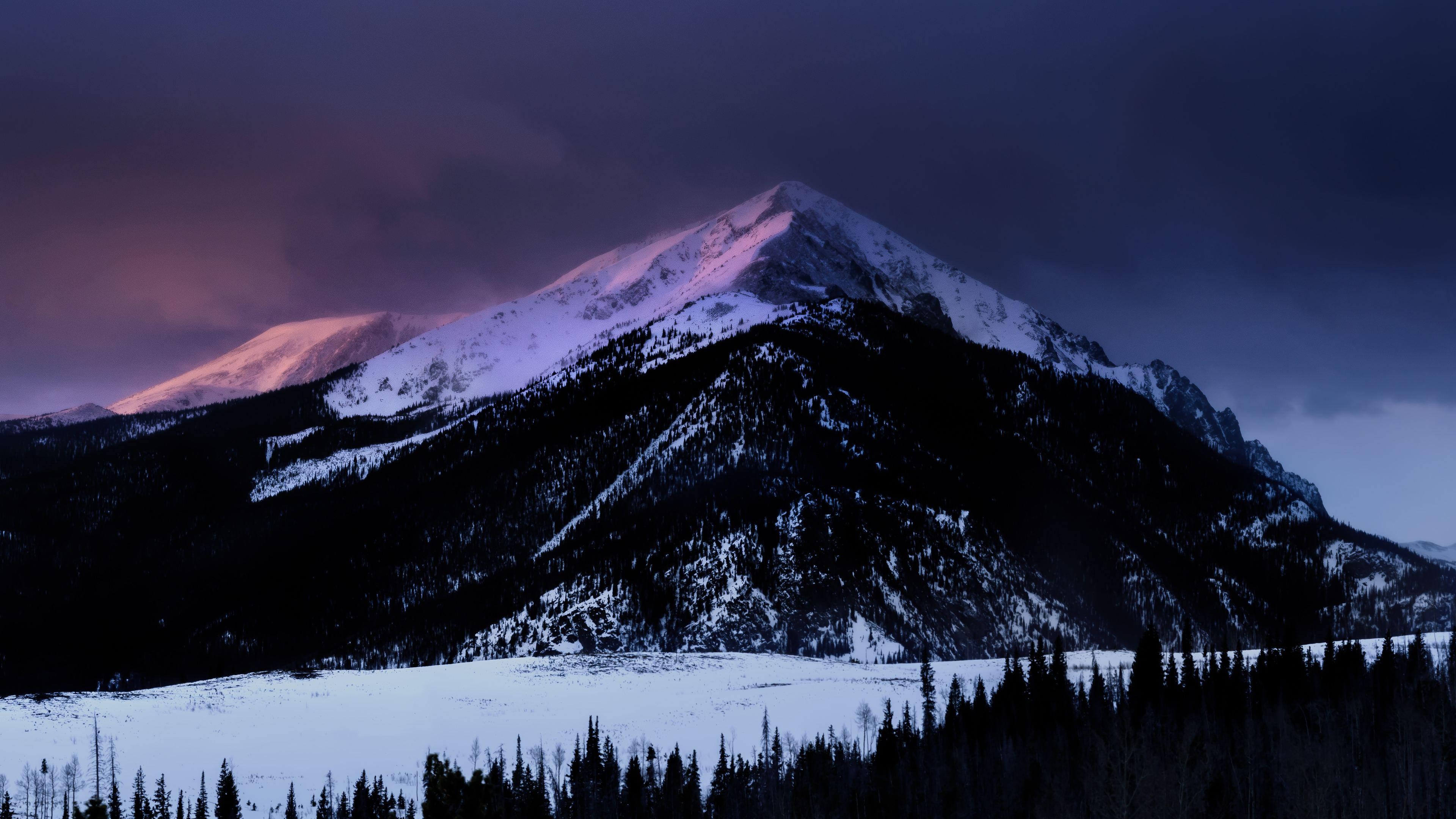Wallpaper 4k Mountains Peak Snow 4k 4k Wallpapers 5k