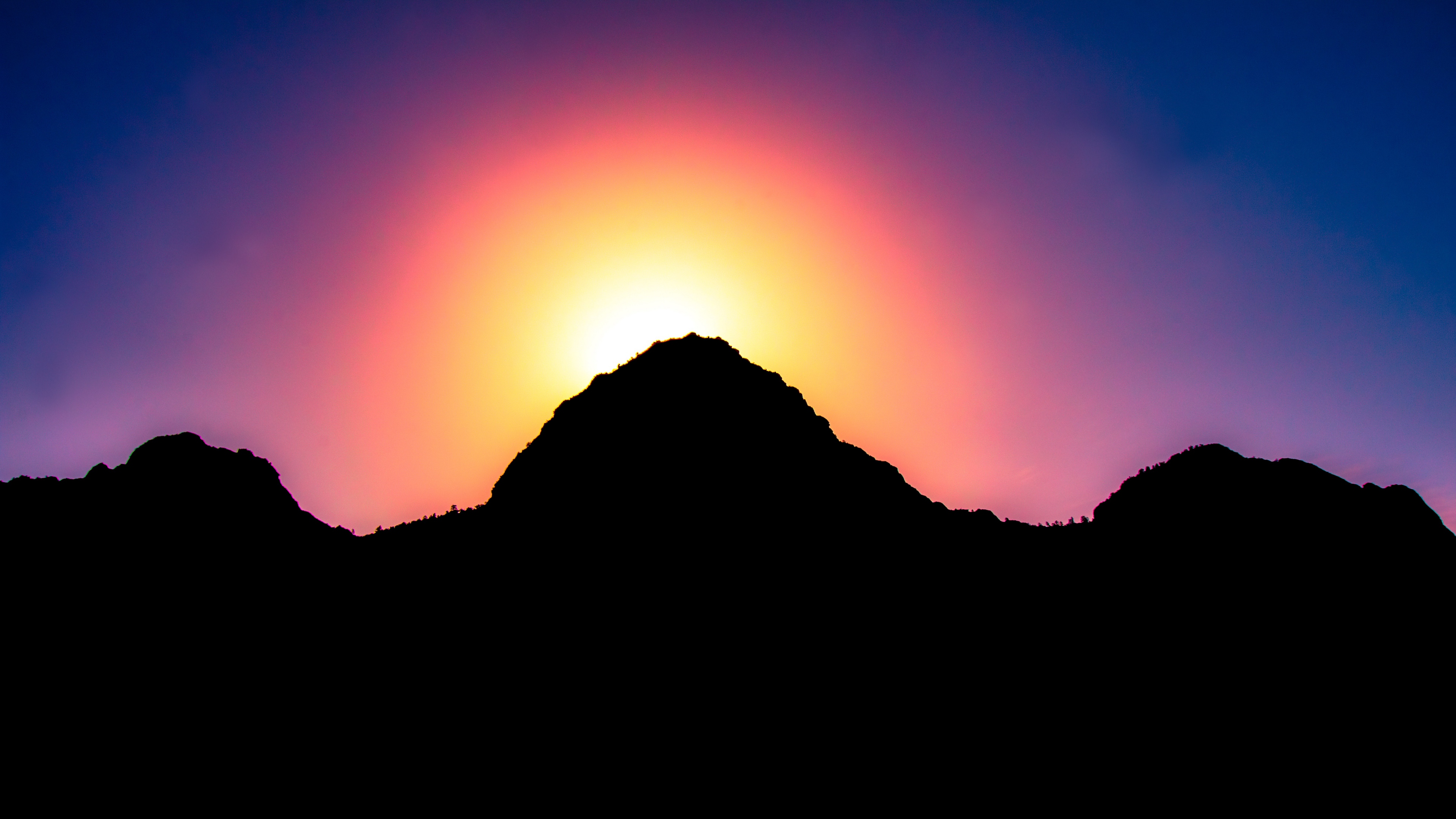 mountains sunset light sky 4k 1540574453 - mountains, sunset, light, sky 4k - sunset, Mountains, Light
