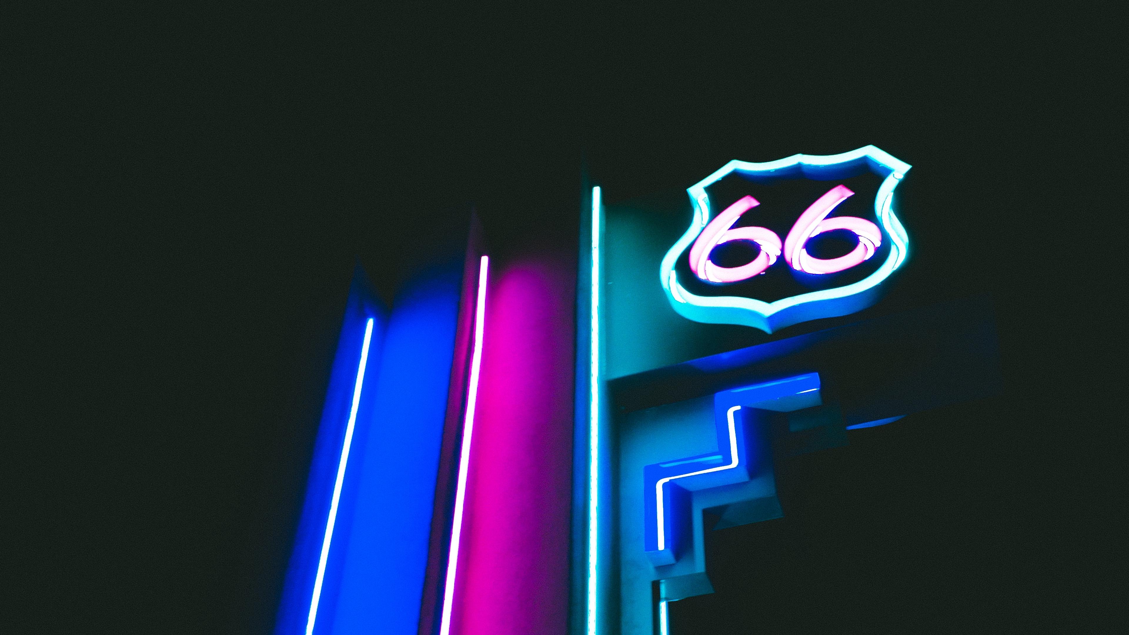 neon backlight signboard numbers 4k 1540574444 - neon, backlight, signboard, numbers 4k - signboard, Neon, backlight