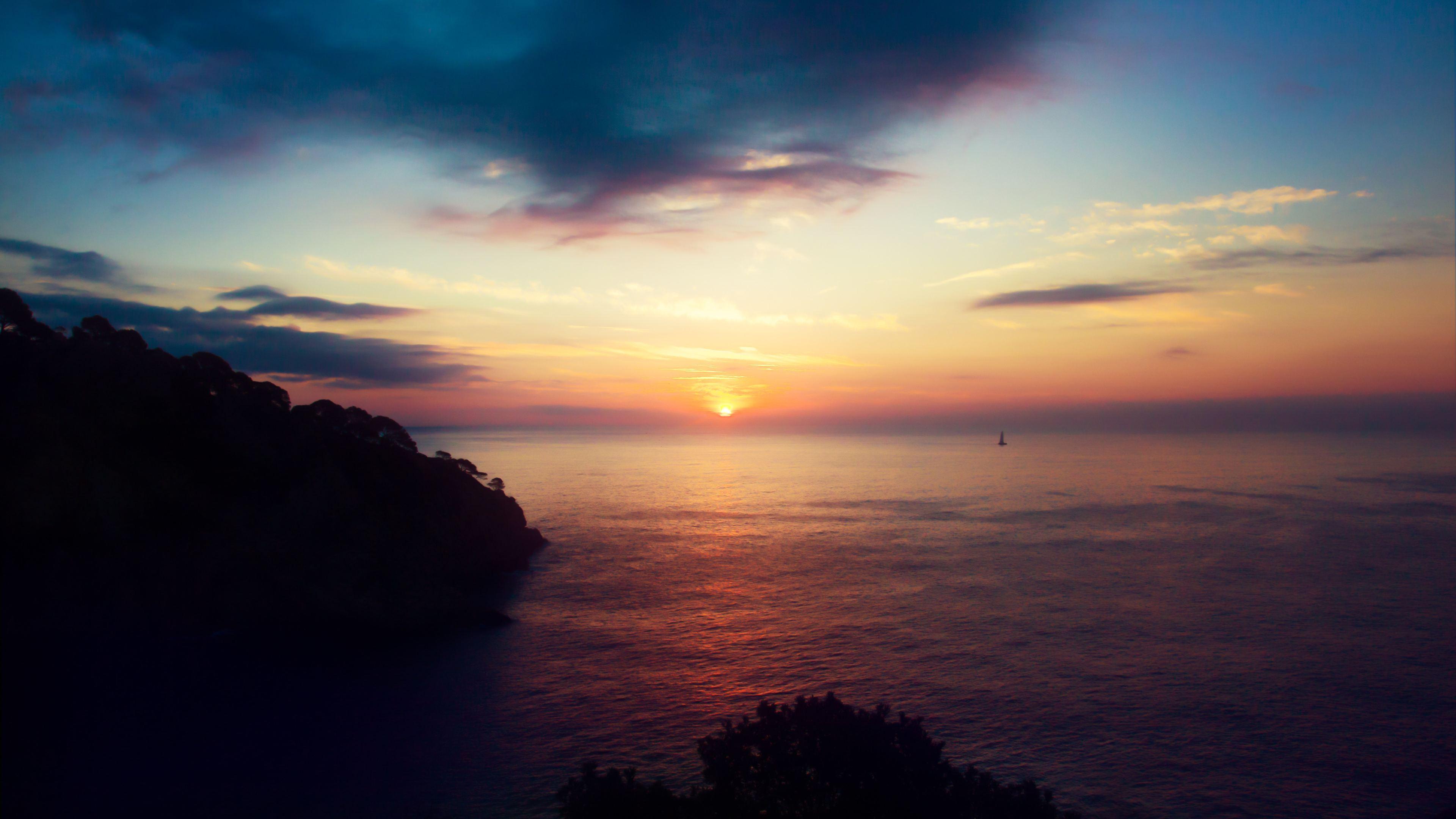 ocean beach sunset 4k 1540140510 - Ocean Beach Sunset 4k - sunset wallpapers, sunrise wallpapers, ocean wallpapers, nature wallpapers, hd-wallpapers, dusk wallpapers, dawn wallpapers, beach wallpapers, 5k wallpapers, 4k-wallpapers
