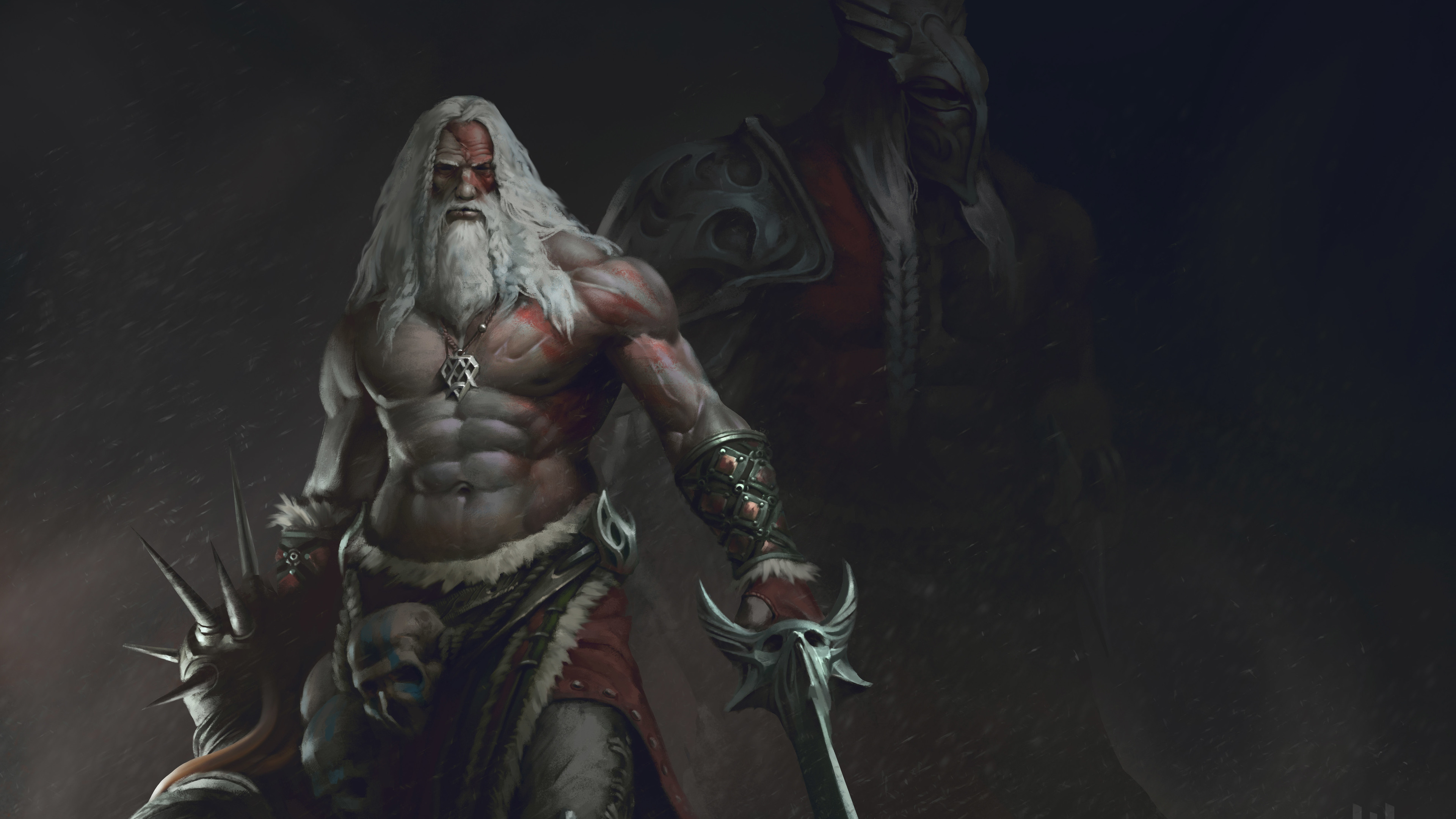 old beard man with sword warrior 4k 1540749690 - Old Beard Man With Sword Warrior 4k - hd-wallpapers, digital art wallpapers, deviantart wallpapers, artwork wallpapers, artist wallpapers, 5k wallpapers, 4k-wallpapers