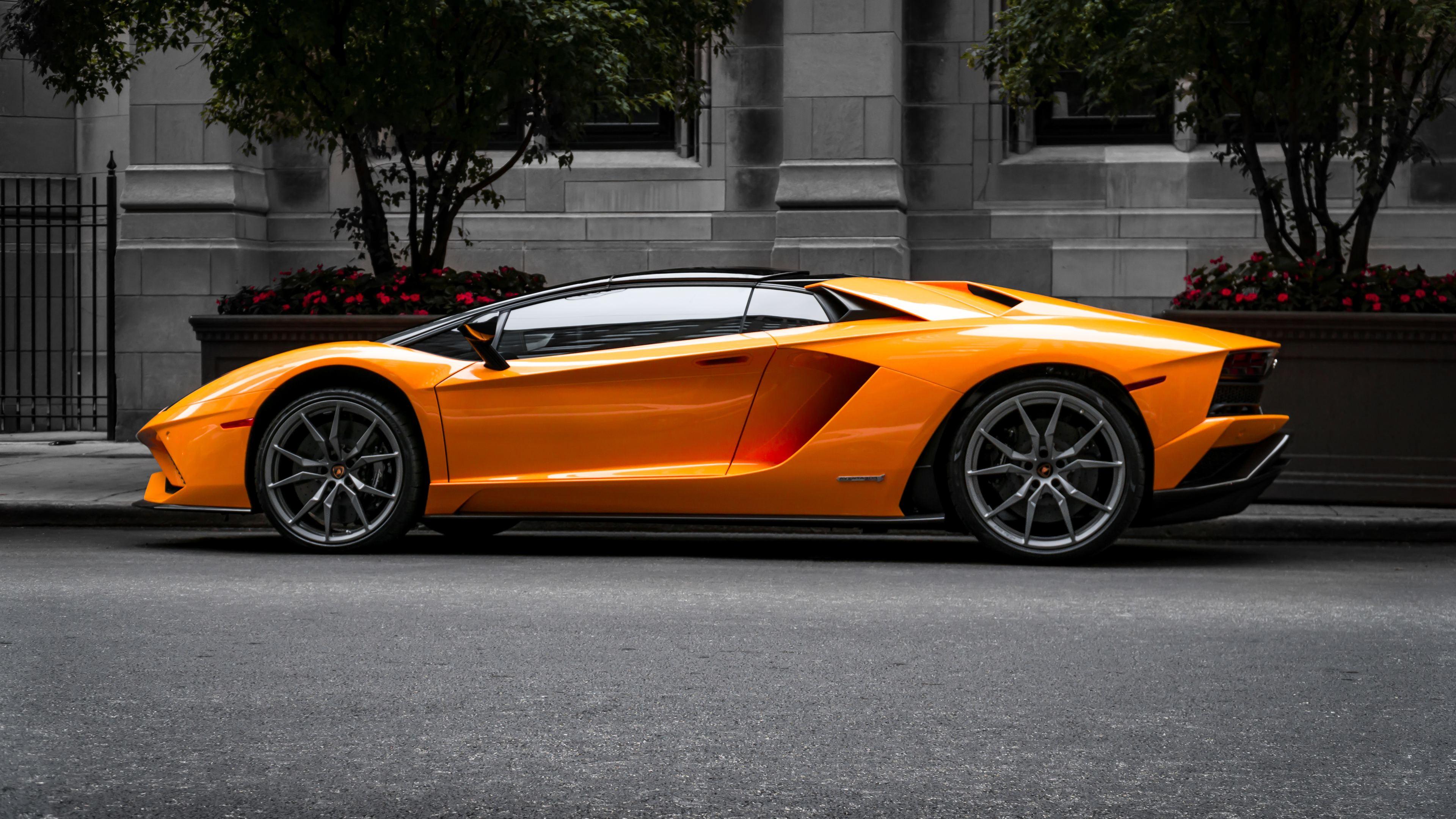 2048x2048 2018 Lamborghini Aventador Svj 4k Ipad Air Hd 4k: Orange Lambo Aventador 5k Lamborghini Wallpapers