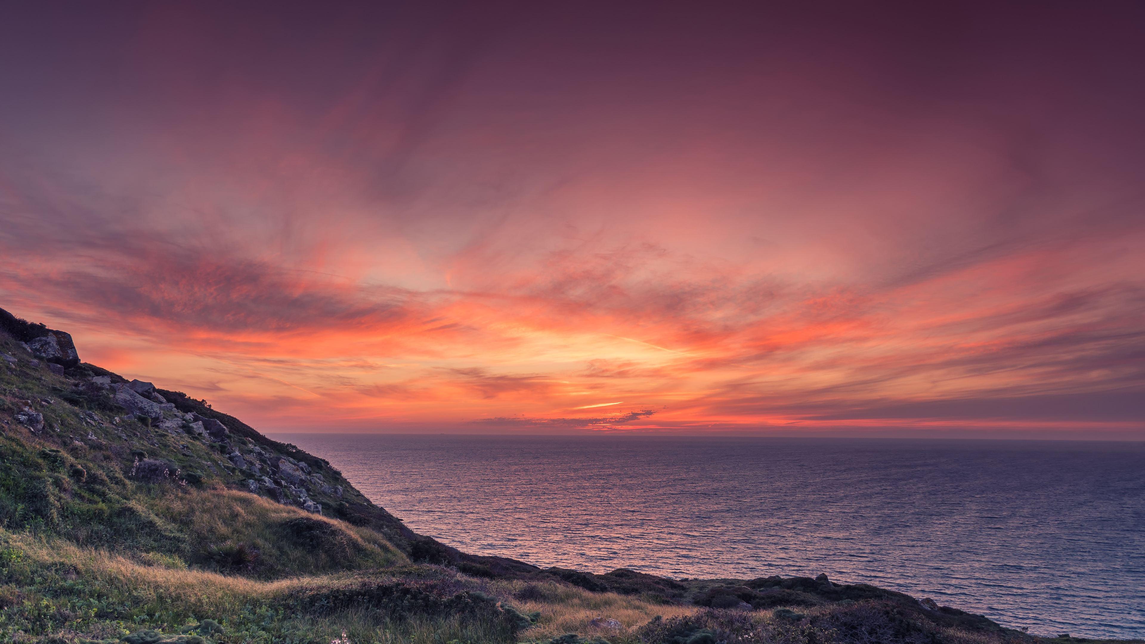 orange sky sunset at beach 1540143165 - Orange Sky Sunset At Beach - sunset wallpapers, sky wallpapers, nature wallpapers, hd-wallpapers, beach wallpapers, 5k wallpapers, 4k-wallpapers