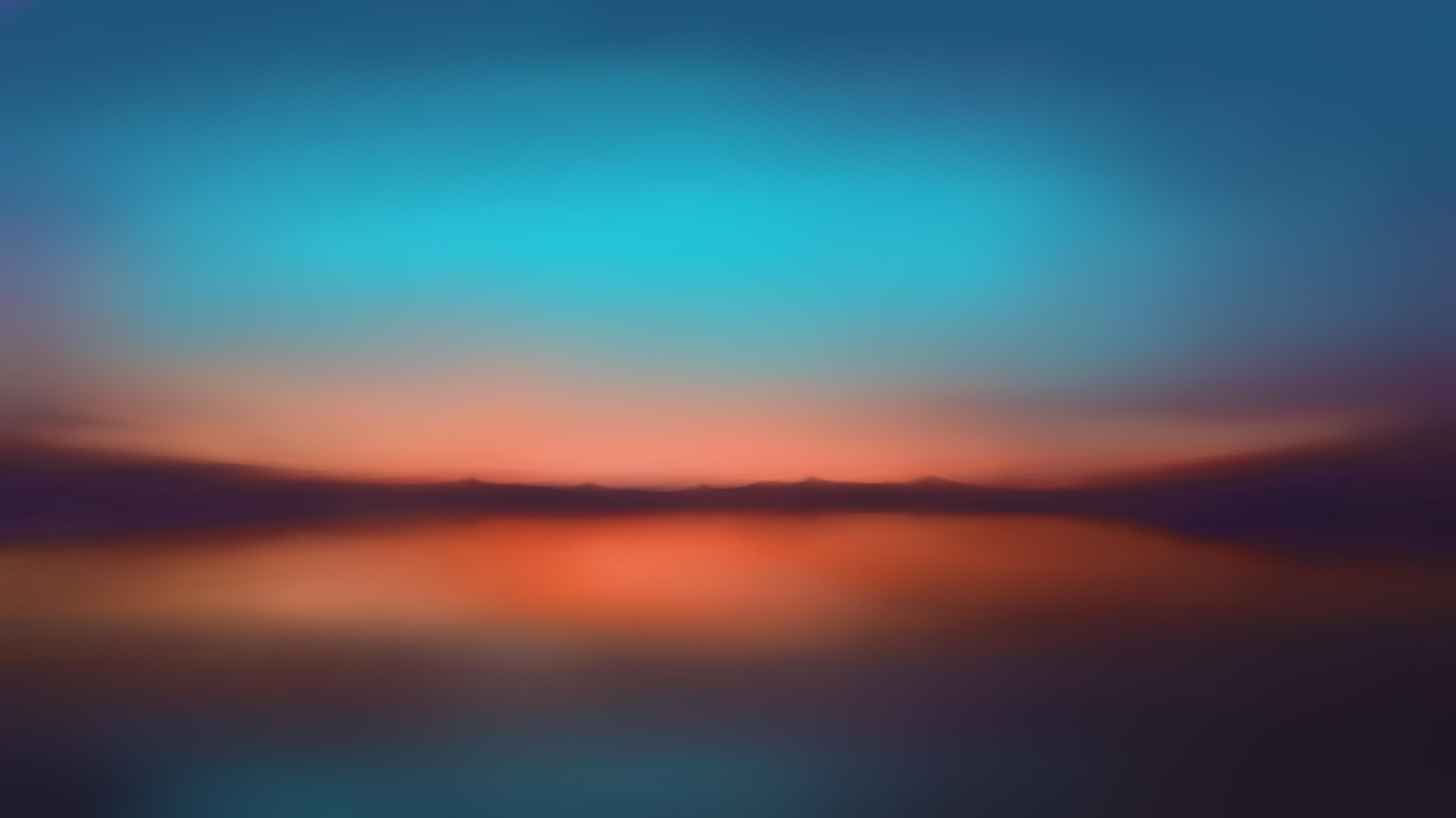 Wallpaper 4k Orange Sunset Blur Minimalist 5k 4k Wallpapers