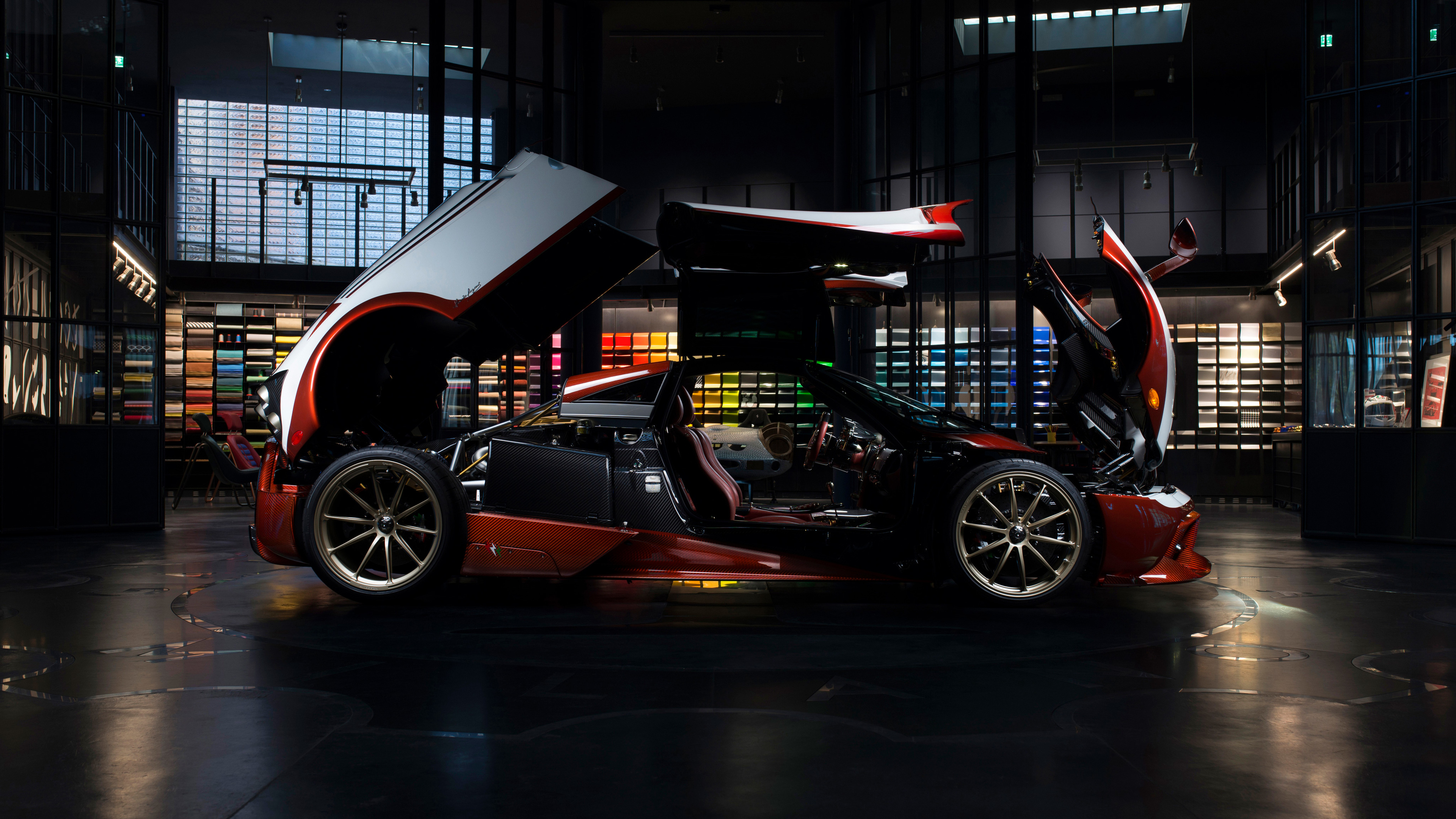 pagani huayra lampo 2018 futurist open doors back 1539108937 - Pagani Huayra Lampo 2018 Futurist Open Doors Back - pagani wallpapers, pagani huayra lampo wallpapers, hd-wallpapers, cars wallpapers, 4k-wallpapers, 2018 cars wallpapers