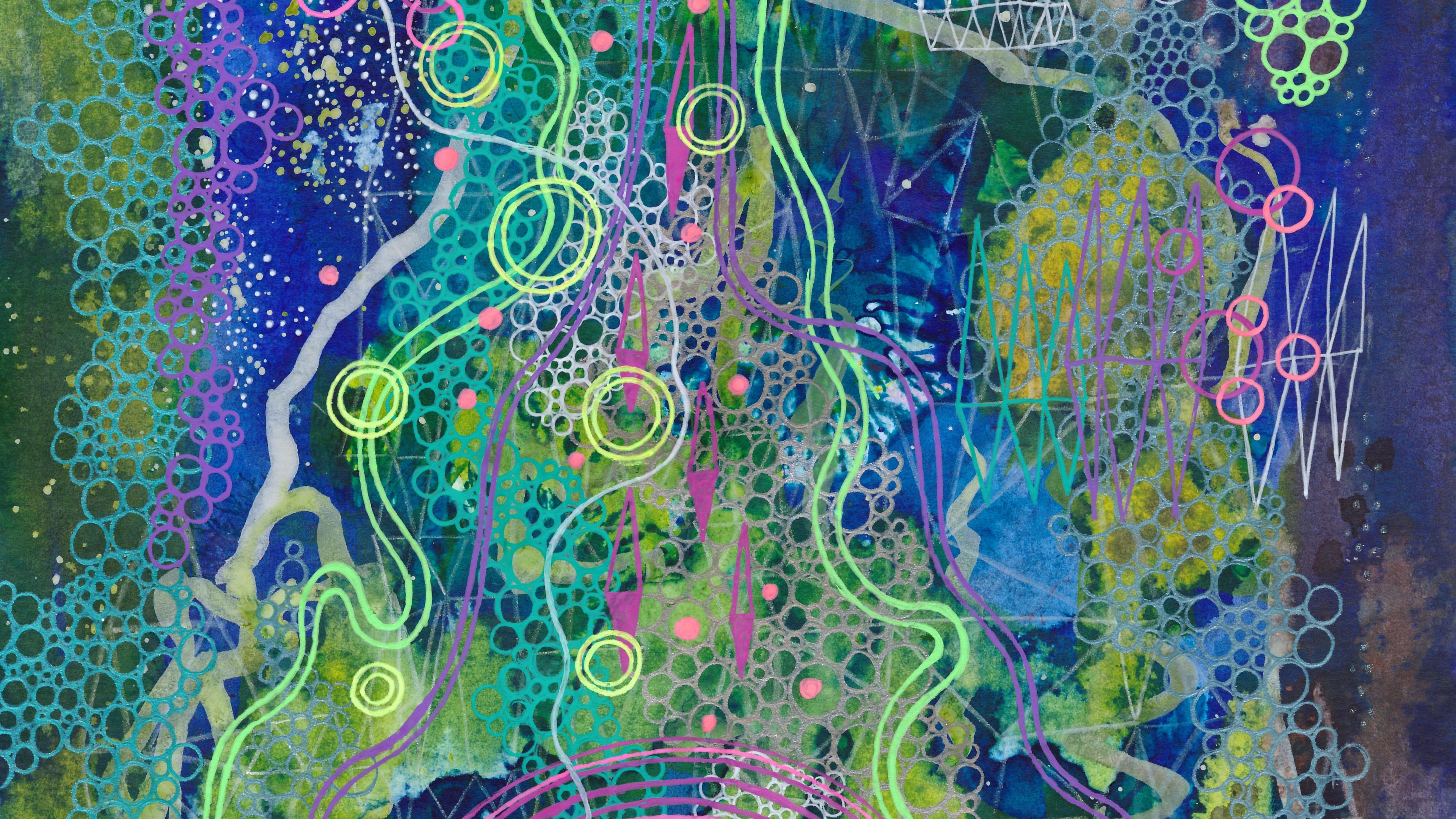 paint patterns spots circles abstraction 4k 1539369882 - paint, patterns, spots, circles, abstraction 4k - spots, patterns, Paint
