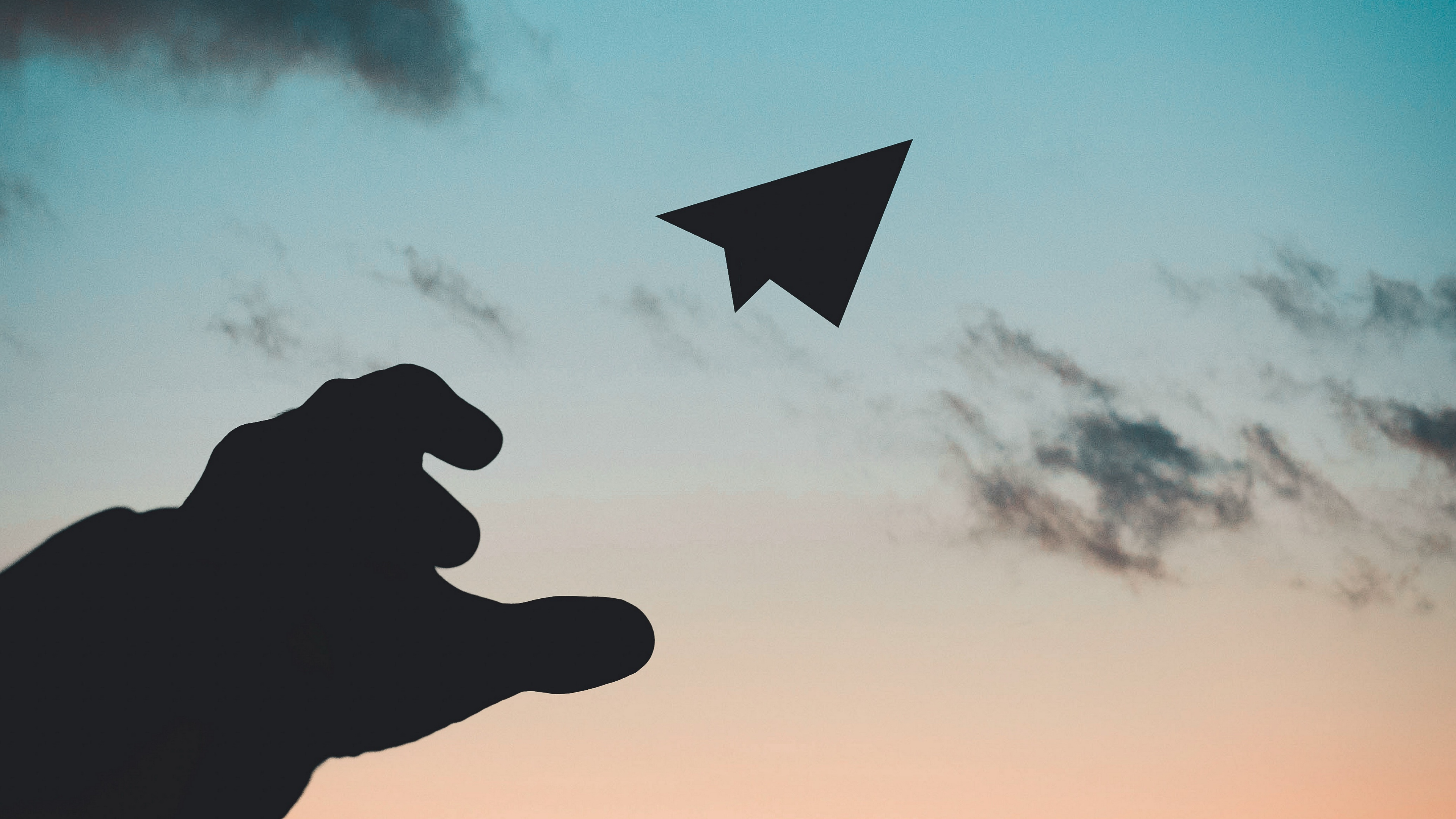 paper airplane hand sky sunset 4k 1540574974 - paper airplane, hand, sky, sunset 4k - Sky, paper airplane, hand