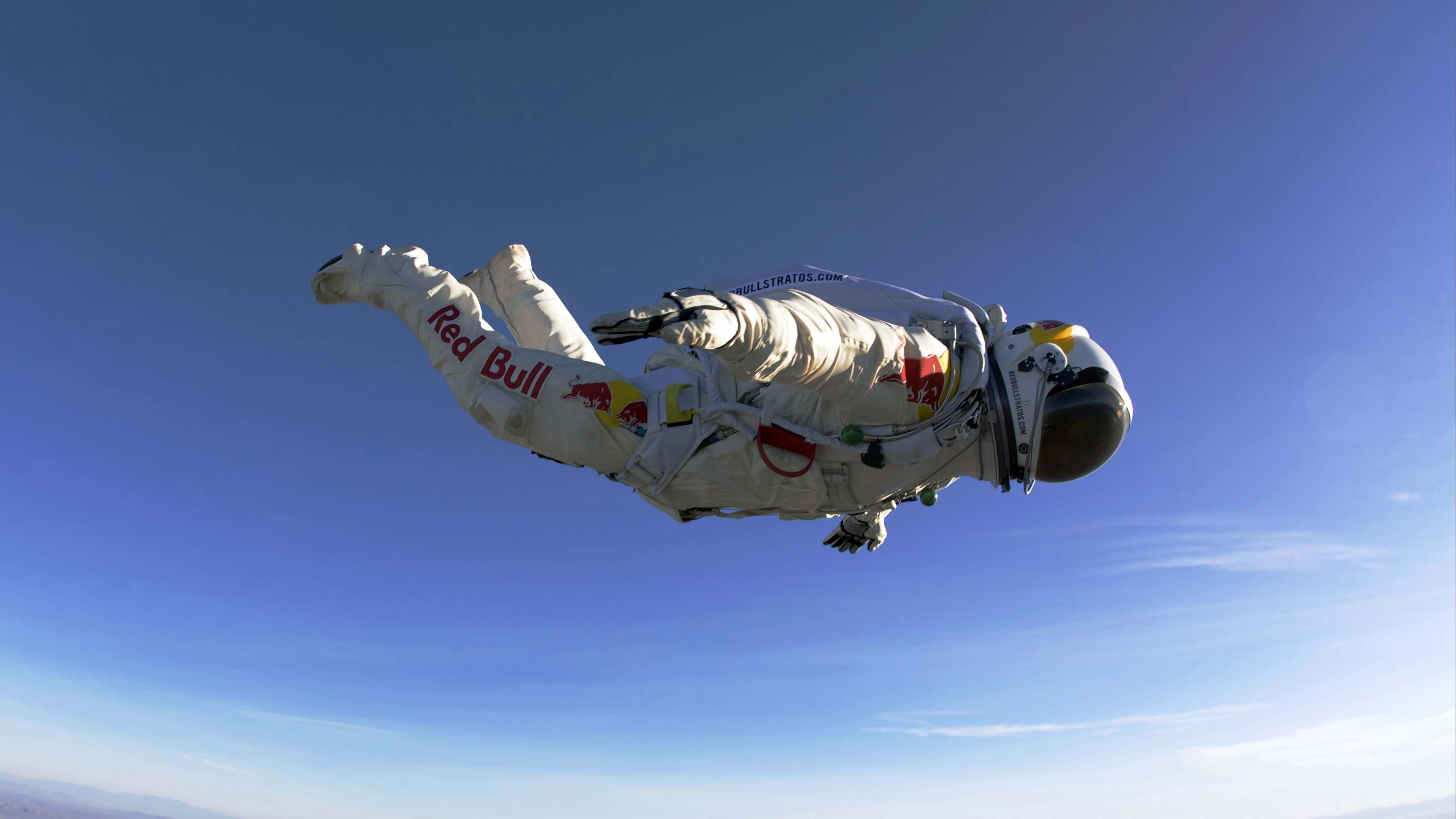 Wallpaper 4k Paratrooper Red Bull Jumping Flying Suit 4k