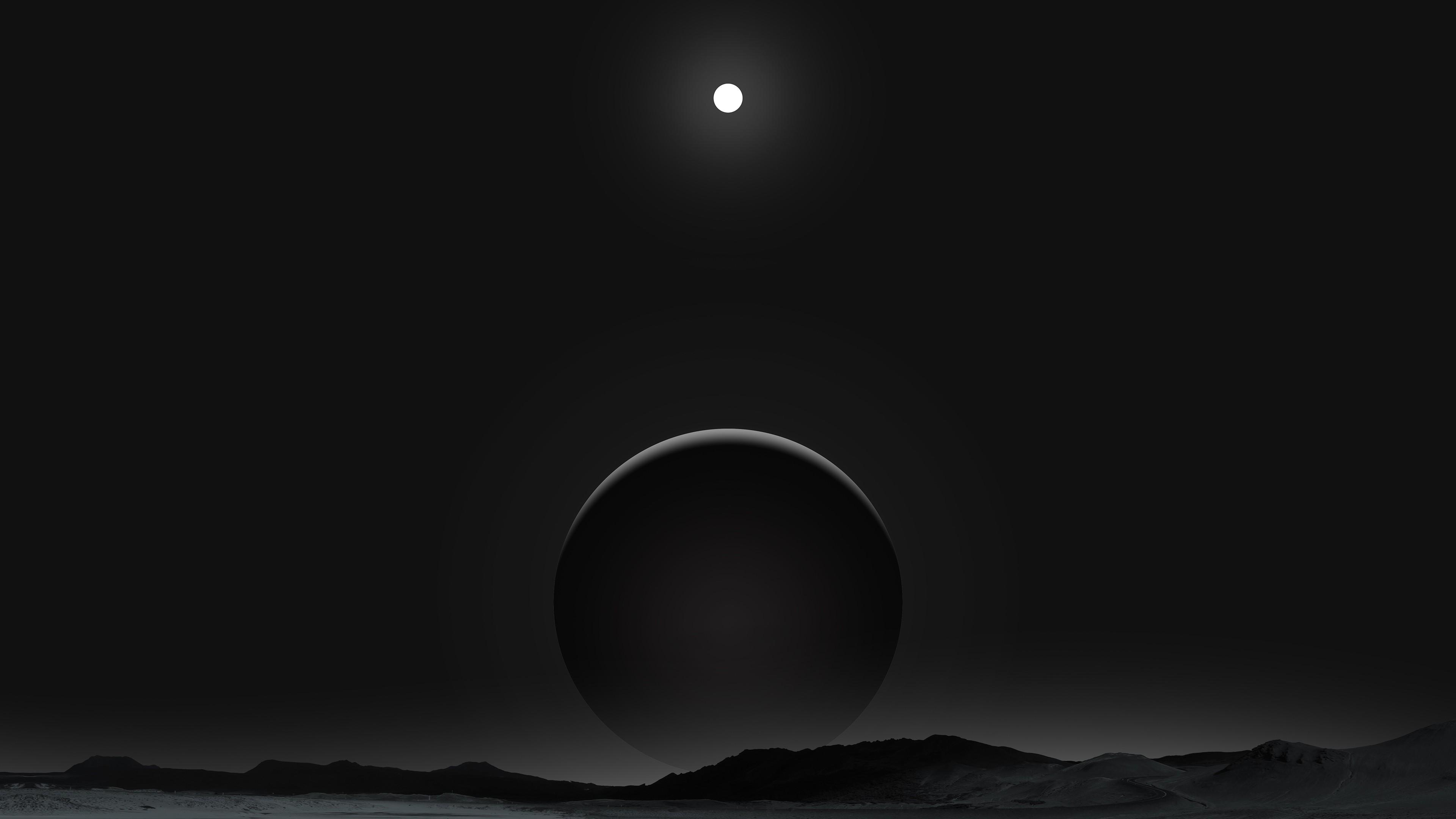 planet dark black moon 4k 1540754546 - Planet Dark Black Moon 4k - planet wallpapers, moon wallpapers, hd-wallpapers, digital art wallpapers, dark wallpapers, artwork wallpapers, artist wallpapers, 4k-wallpapers