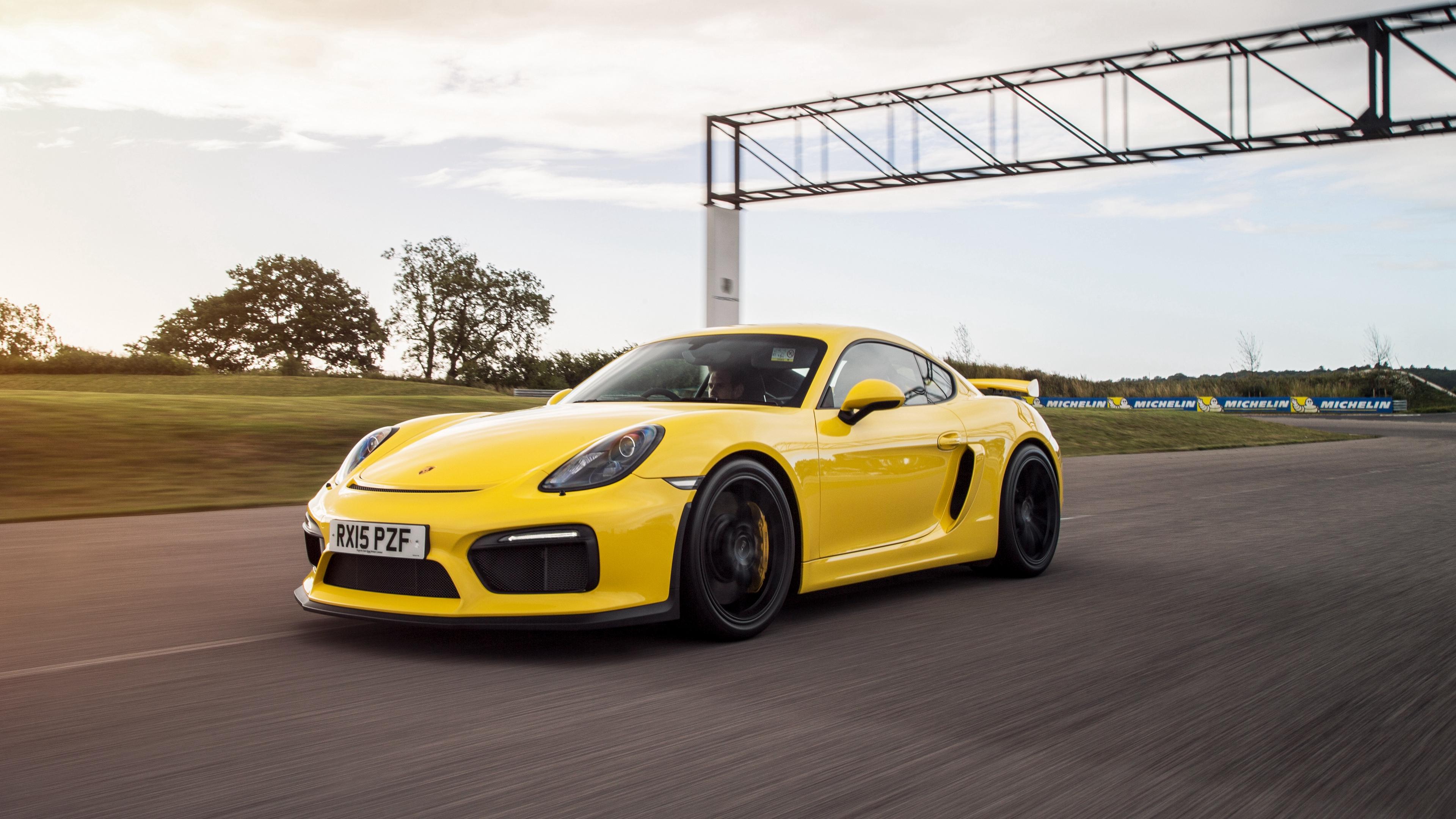 porsche cayman gt4 yellow side view 4k 1538935304 - porsche, cayman, gt4, yellow, side view 4k - Porsche, GT4, cayman