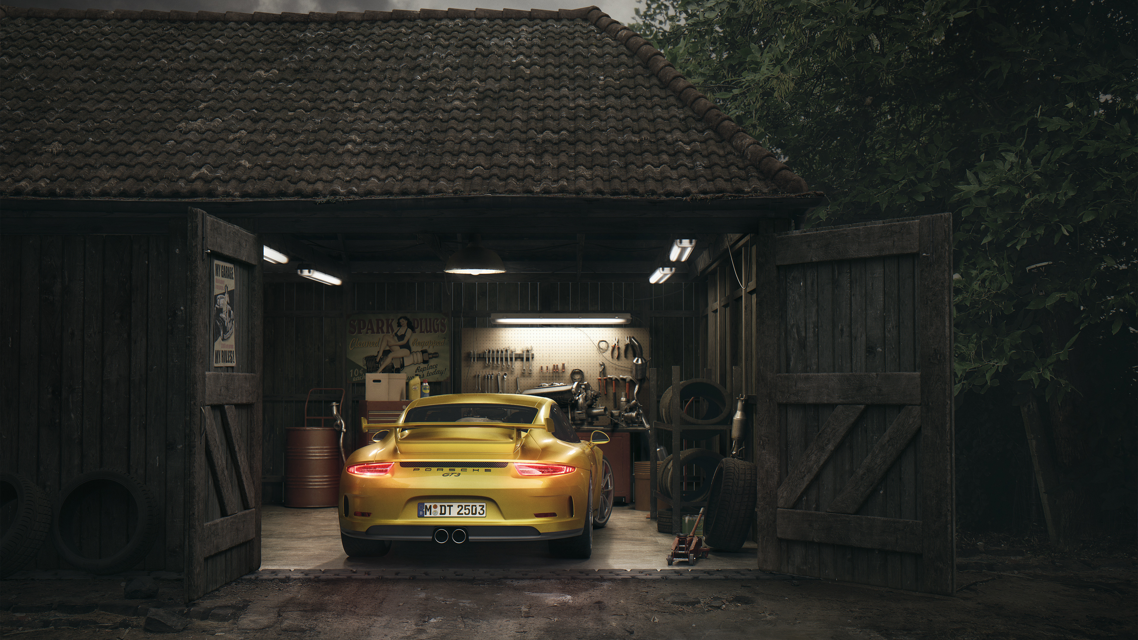 porsche gt3 barn 1539792781 - Porsche Gt3 Barn - porsche wallpapers, porsche gt3 wallpapers, hd-wallpapers, cars wallpapers, behance wallpapers, 4k-wallpapers