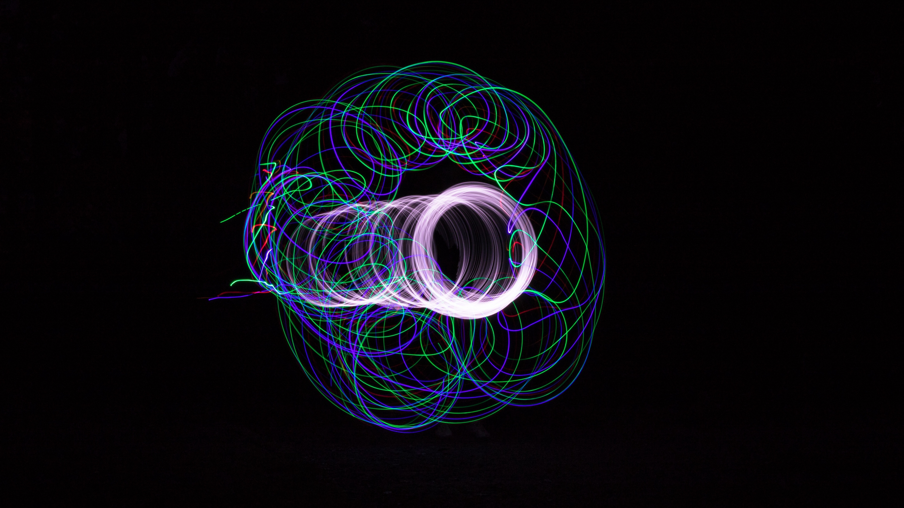 projection light circle lines 4k 1539369495 - projection, light, circle, lines 4k - projection, Light, circle