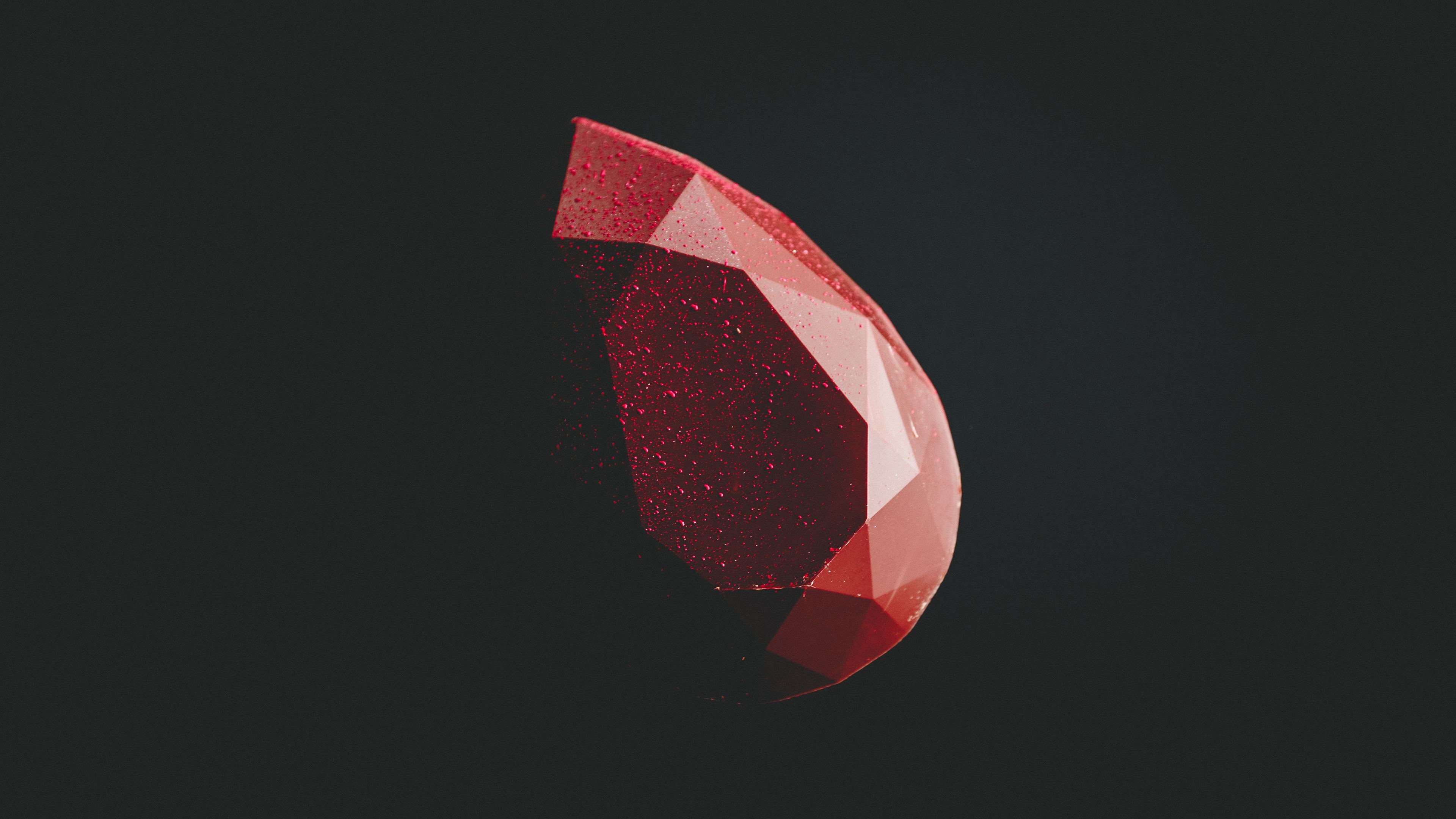Wallpaper 4k Red Diamond Minimal Dark 5k 4k Wallpapers 5k