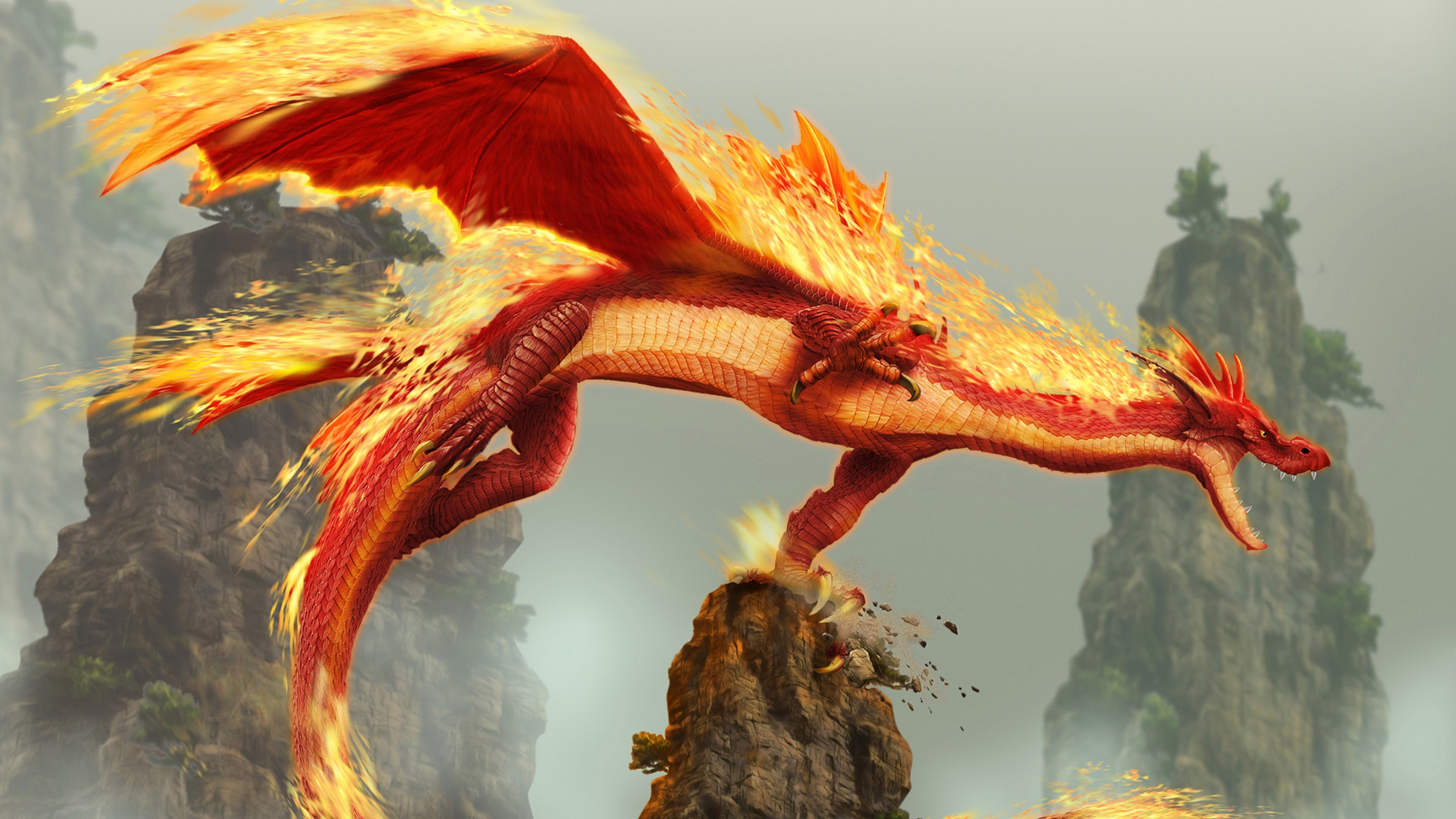 red fire dragon creature fantasy monster 4k 1540751166 - Red Fire Dragon Creature Fantasy Monster 4k - hd-wallpapers, fantasy wallpapers, dragon wallpapers, digital art wallpapers, creature wallpapers, artwork wallpapers, artist wallpapers, 4k-wallpapers
