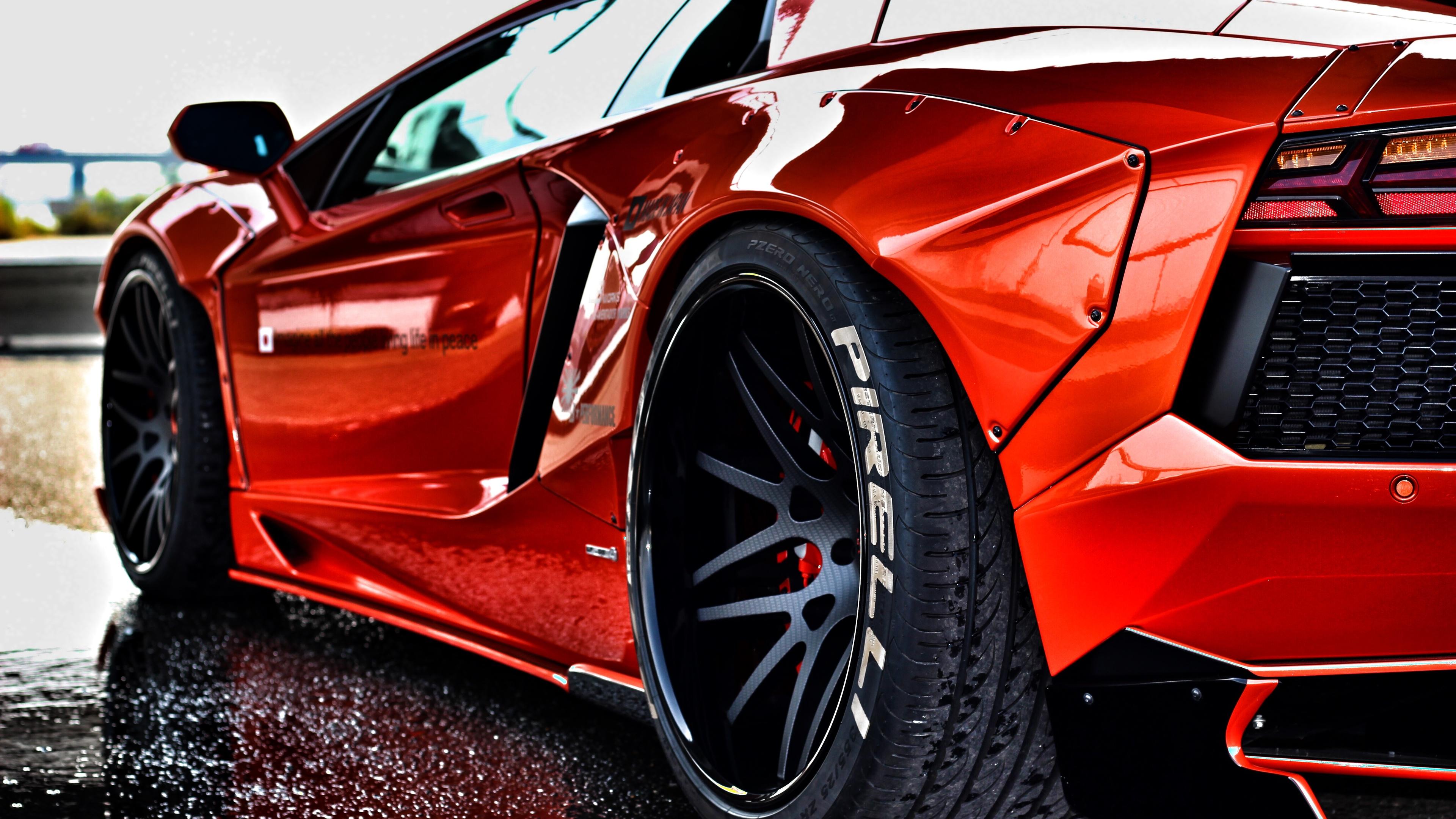 2048x2048 2018 Lamborghini Aventador Svj 4k Ipad Air Hd 4k: Red Lamborghini Aventador Rear Lamborghini Wallpapers