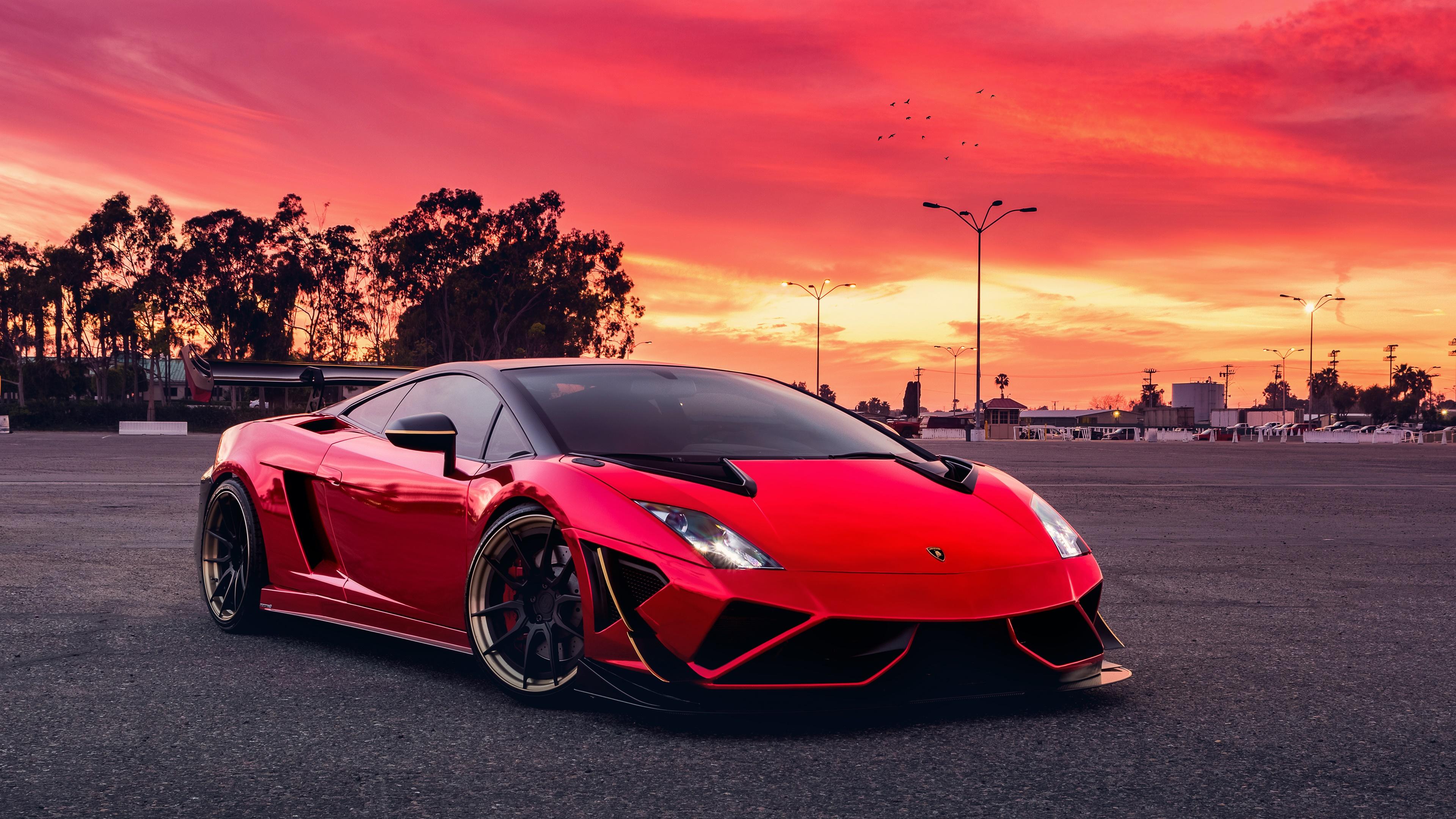 4k Lamborghini Aventador Lamborghini Sports Car Wallpaper: Red Lamborghini Gallardo Lamborghini Wallpapers