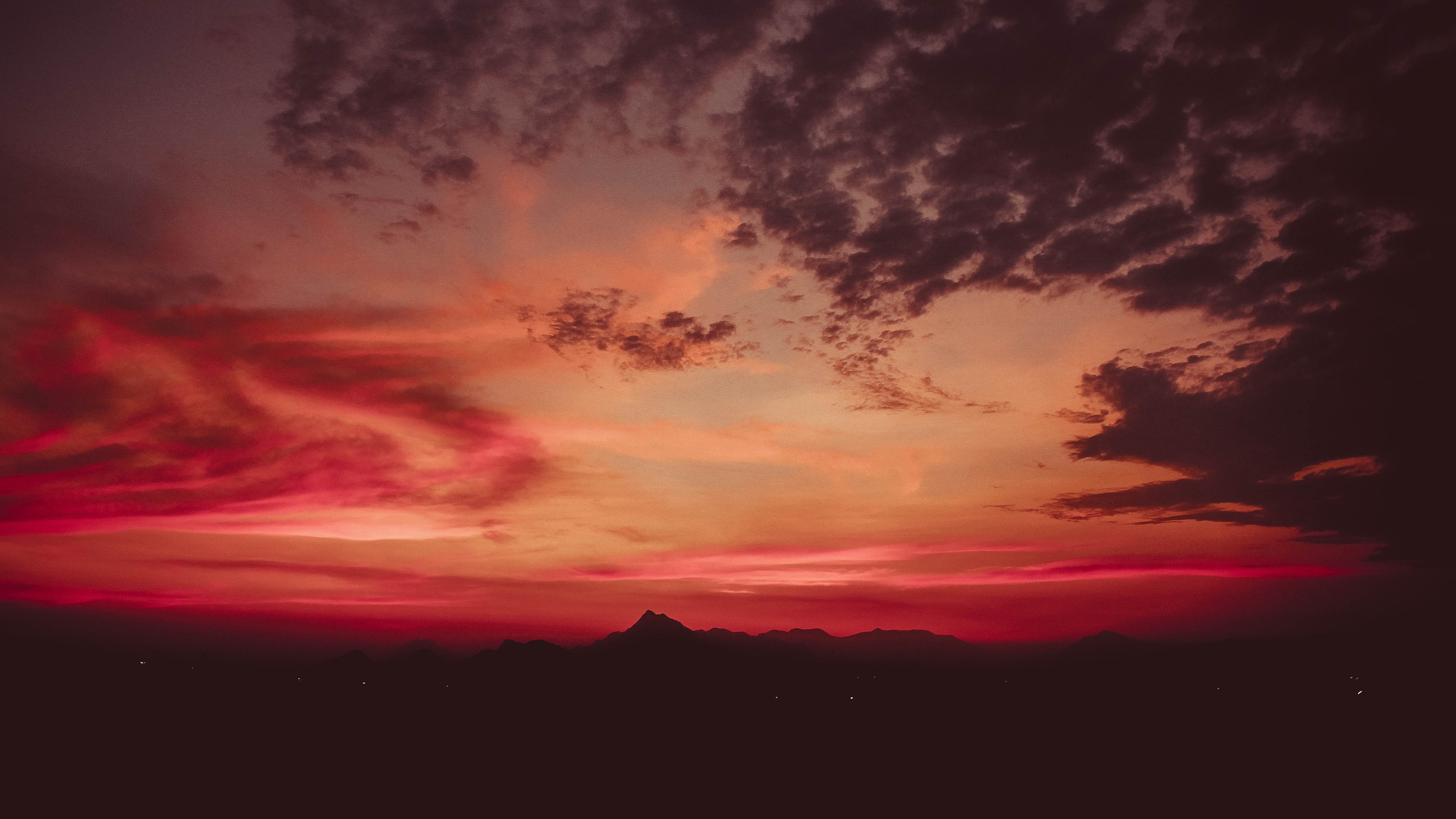 red sky nature mountains 5k 1540132876 - Red Sky Nature Mountains 5k - sky wallpapers, nature wallpapers, mountains wallpapers, hd-wallpapers, 5k wallpapers, 4k-wallpapers