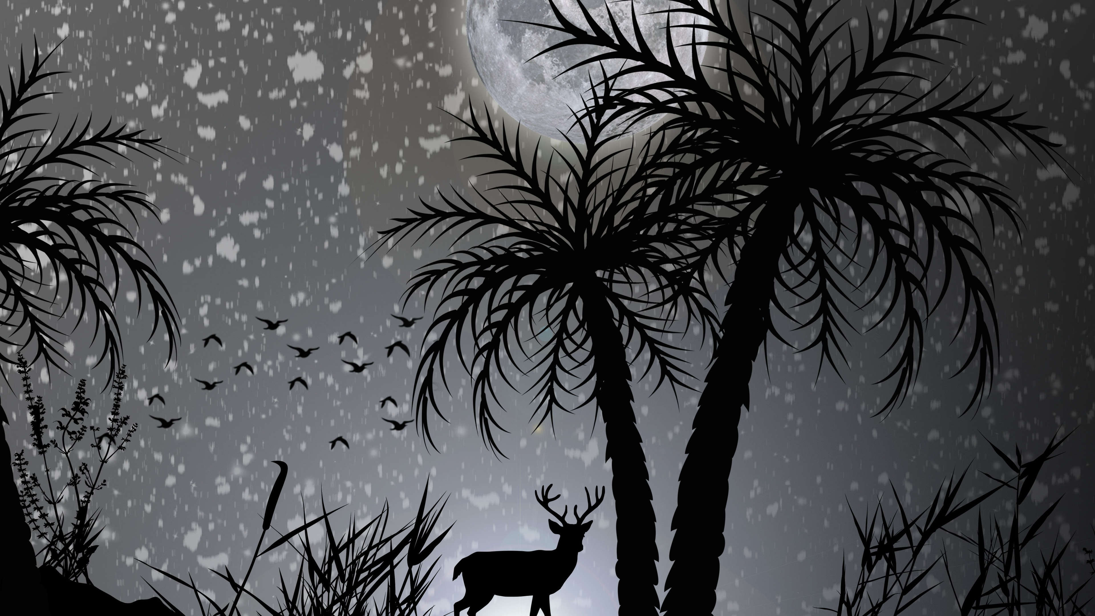 reindeer dark night moon minimalist 4k 1540756124 - Reindeer Dark Night Moon Minimalist 4k - reindeer wallpapers, moon wallpapers, monochrome wallpapers, minimalist wallpapers, minimalism wallpapers, hd-wallpapers, deer wallpapers, dark wallpapers, black and white wallpapers, 4k-wallpapers