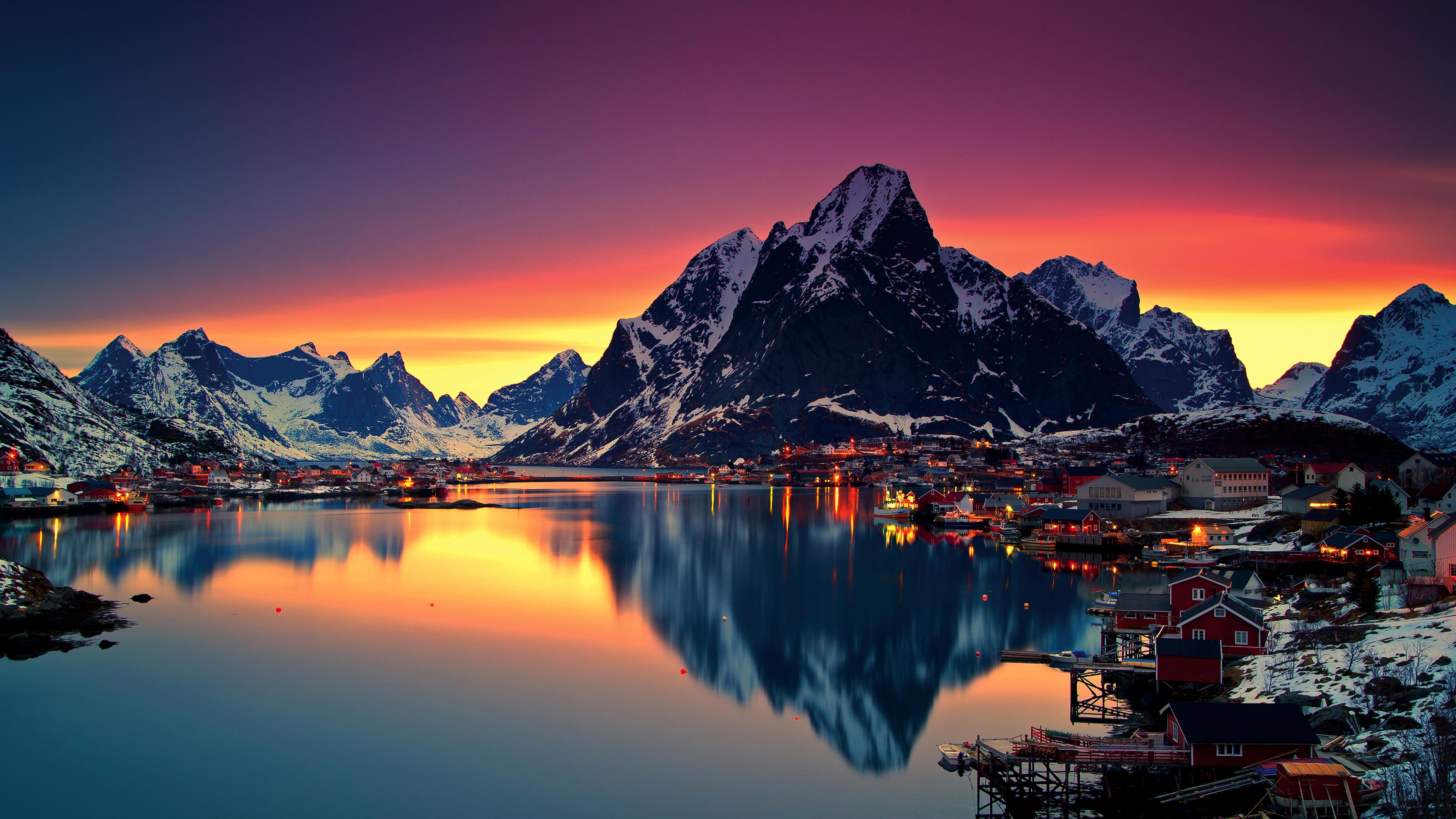 reinebringen mountains in norway 1540142936 - Reinebringen Mountains In Norway - world wallpapers, sunset wallpapers, sunrise wallpapers, reflection wallpapers, norway wallpapers, mountains wallpapers, hd-wallpapers, dusk wallpapers, dawn wallpapers, 4k-wallpapers