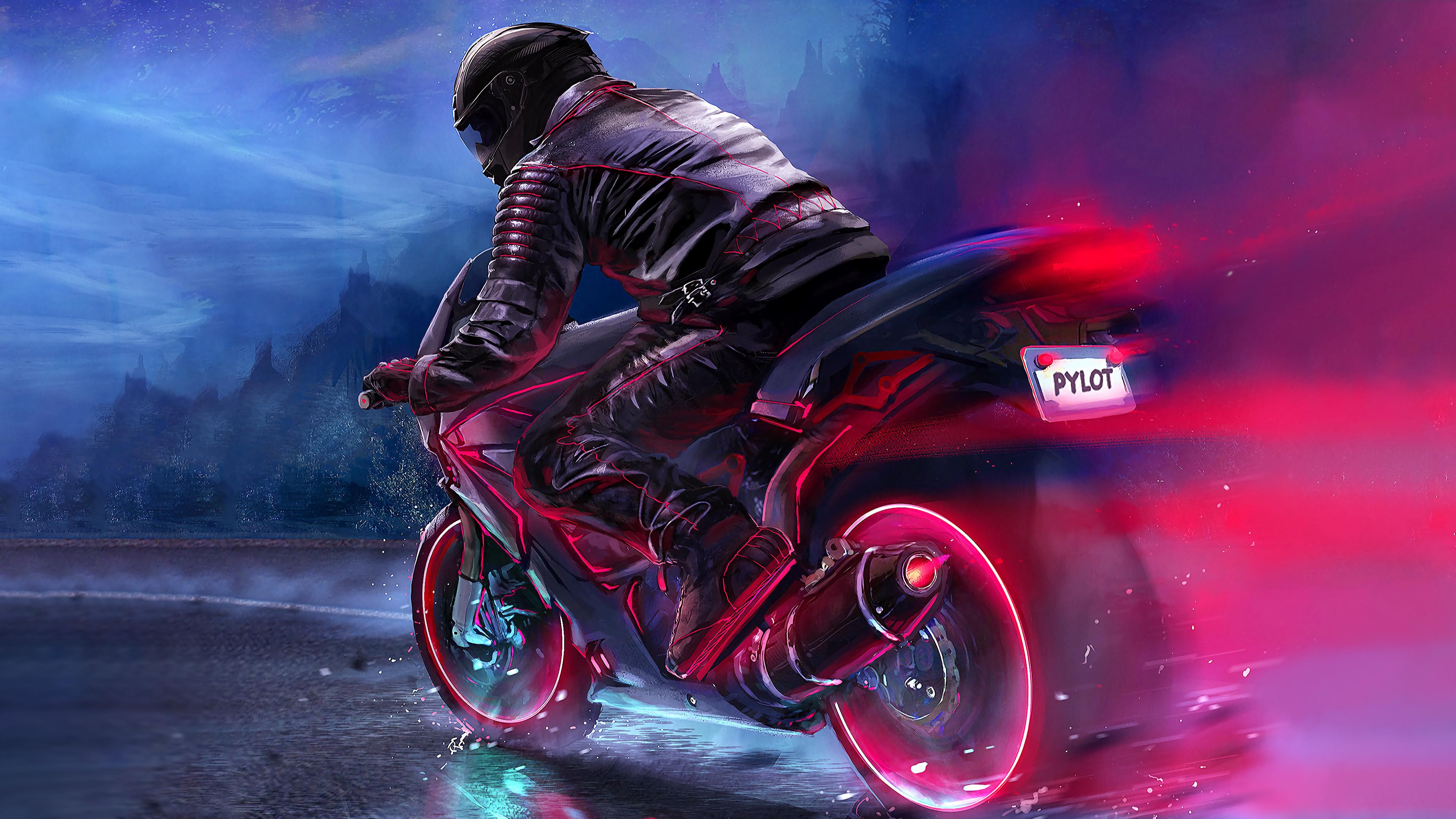 retro bike rider 4k 1540755694 - Retro Bike Rider 4k - retrowave wallpapers, retro wallpapers, hd-wallpapers, digital art wallpapers, biker wallpapers, bike wallpapers, artwork wallpapers, artist wallpapers, 4k-wallpapers