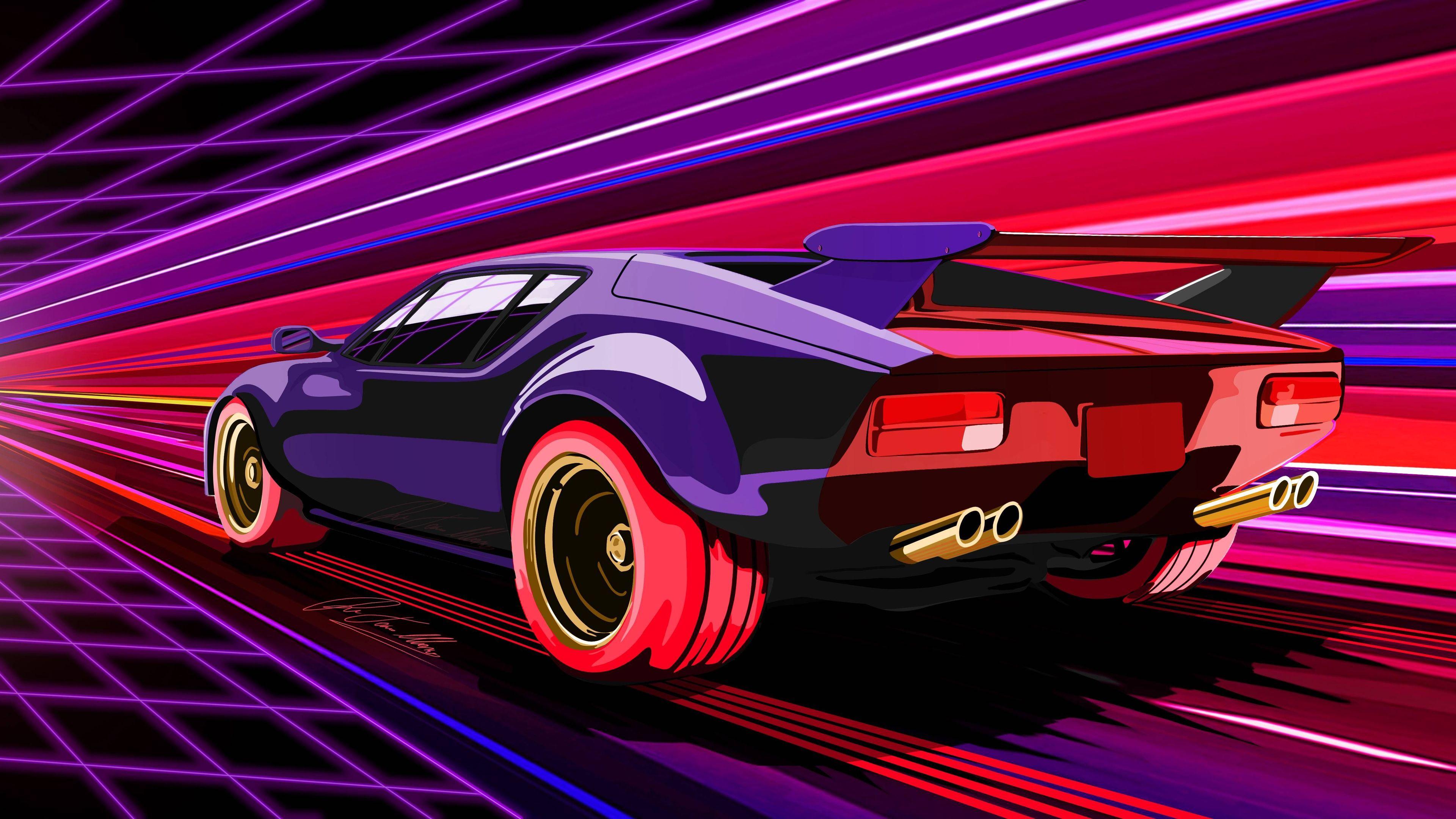 Wallpaper 4k Retro Racing Muscle Car 4k 4k Wallpapers 5k