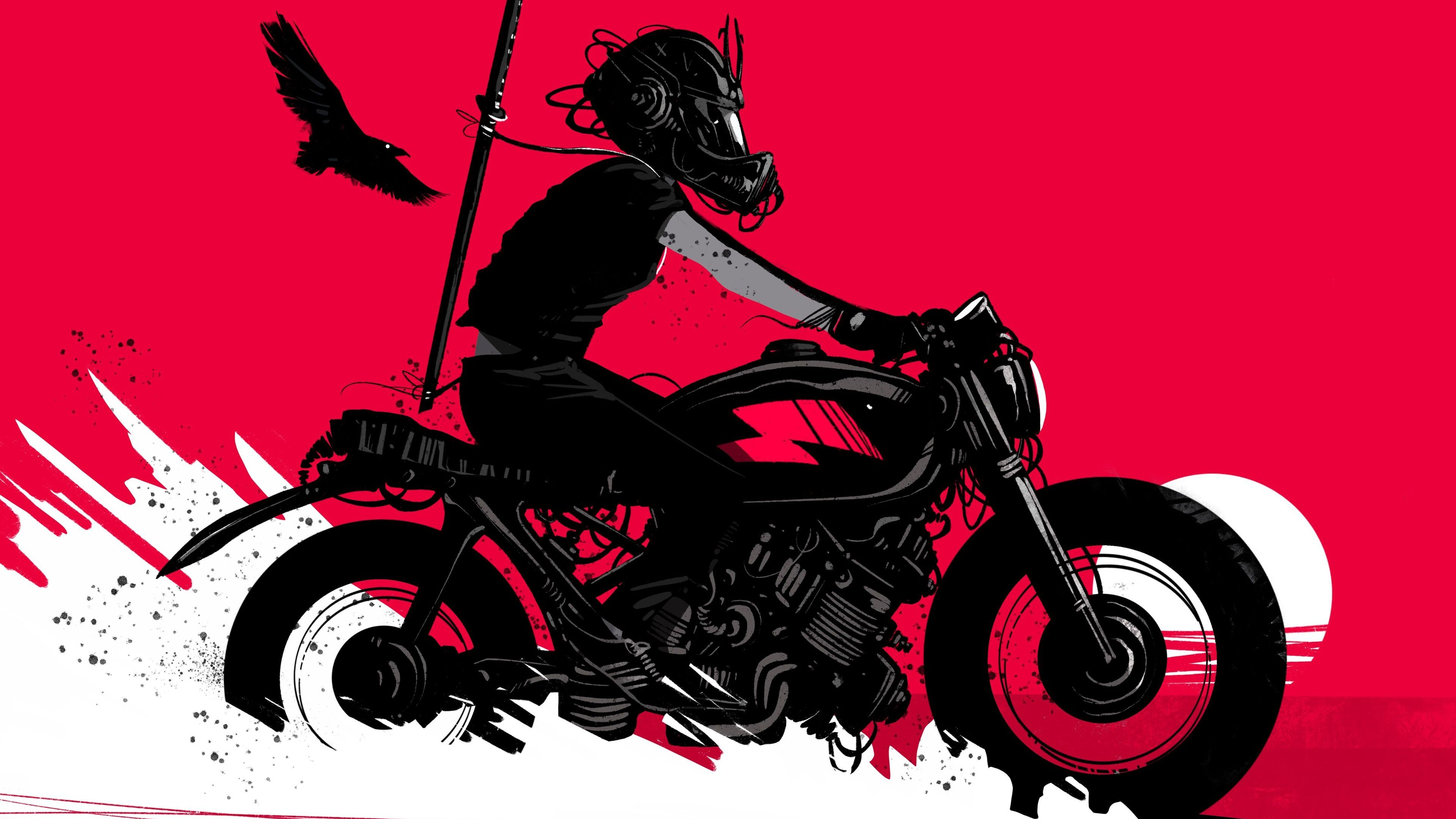 retro rider on a bike sunset 1540755068 - Retro Rider On A Bike Sunset - retro wallpapers, hd-wallpapers, digital art wallpapers, artwork wallpapers, artist wallpapers, 4k-wallpapers
