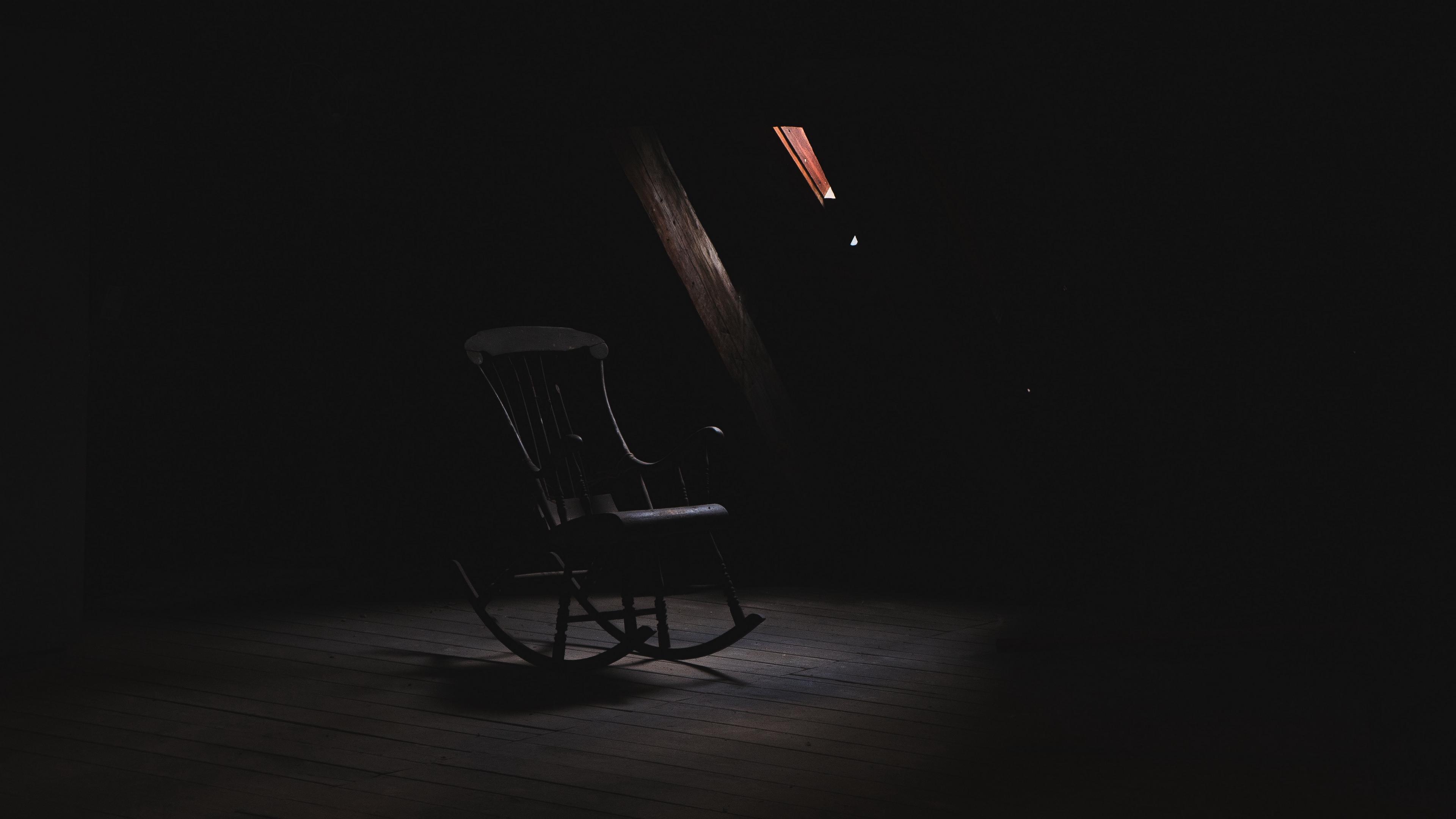 rocking chair loft dark creepy 4k 1540575930 - rocking chair, loft, dark, creepy 4k - rocking chair, loft, Dark