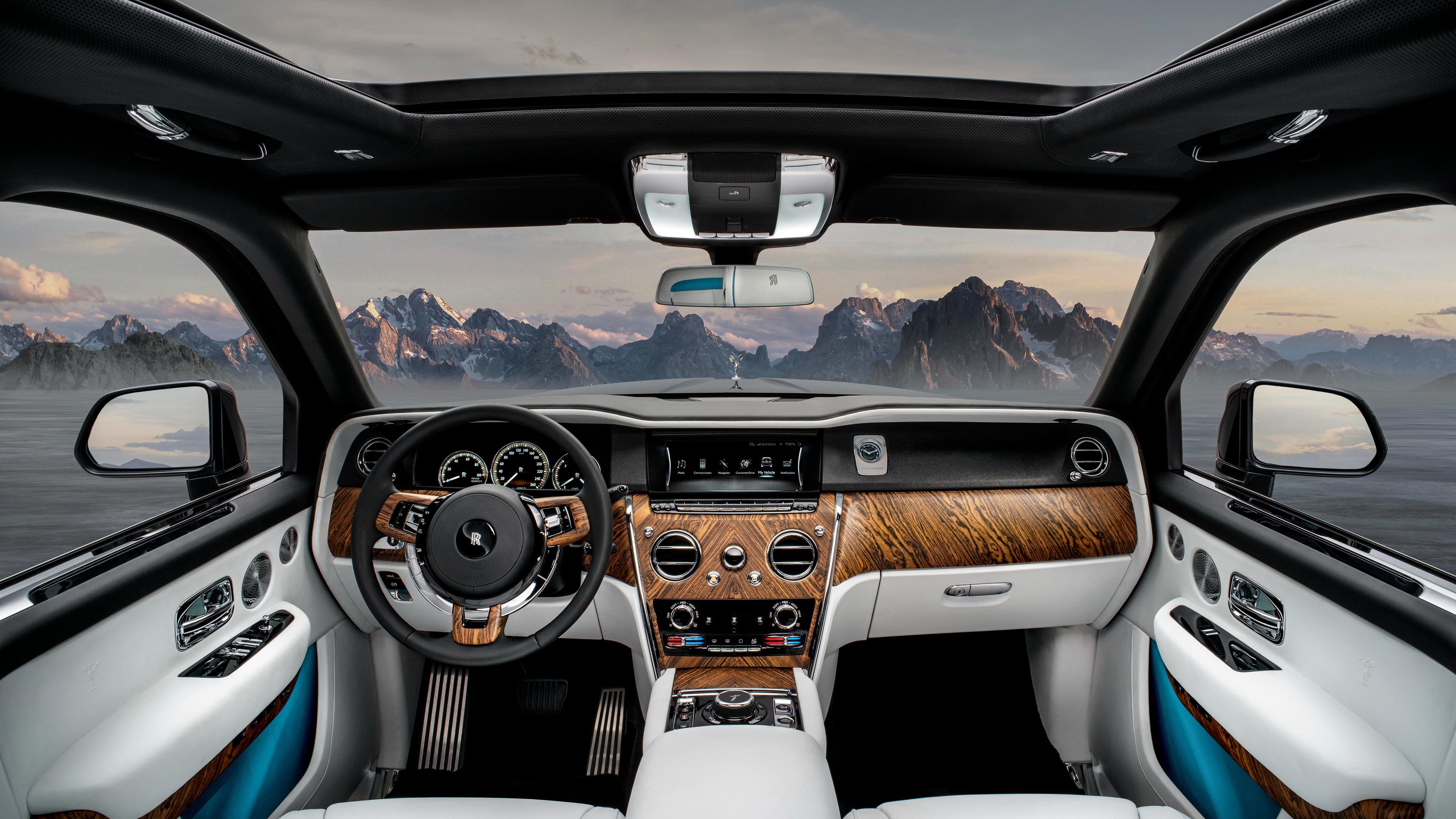 Wallpaper 4k Rolls Royce Cullinan Interior 2019 Cars Wallpapers 4k