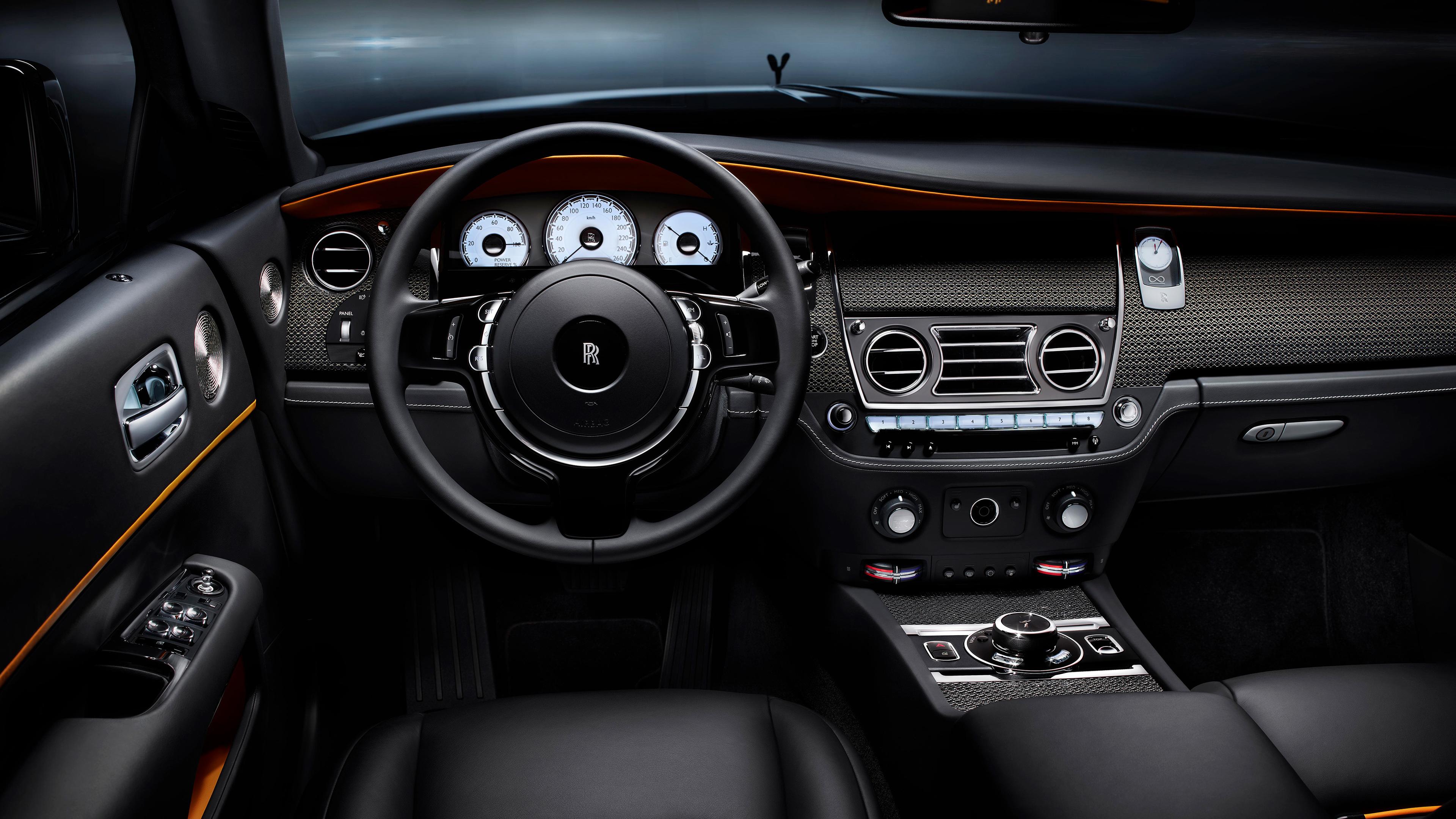 rolls royce dawn black badge interior 4k 1539105553 - Rolls Royce Dawn Black Badge Interior 4k - steering wallpapers, rolls royce wallpapers, rolls royce dawn black badge wallpapers, hd-wallpapers, 4k-wallpapers, 2017 cars wallpapers