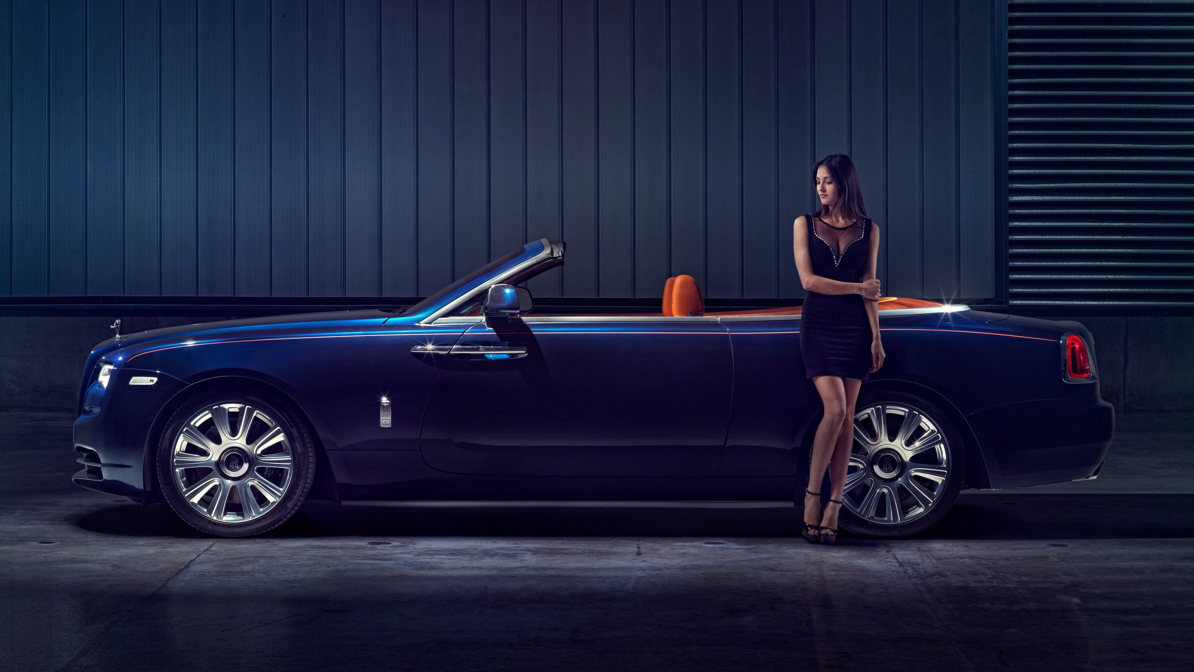rolls royce dawn model posing 1539112004 - Rolls Royce Dawn Model Posing - rolls royce wallpapers, rolls royce dawn wallpapers, hd-wallpapers, cars wallpapers, 5k wallpapers, 4k-wallpapers, 2018 cars wallpapers