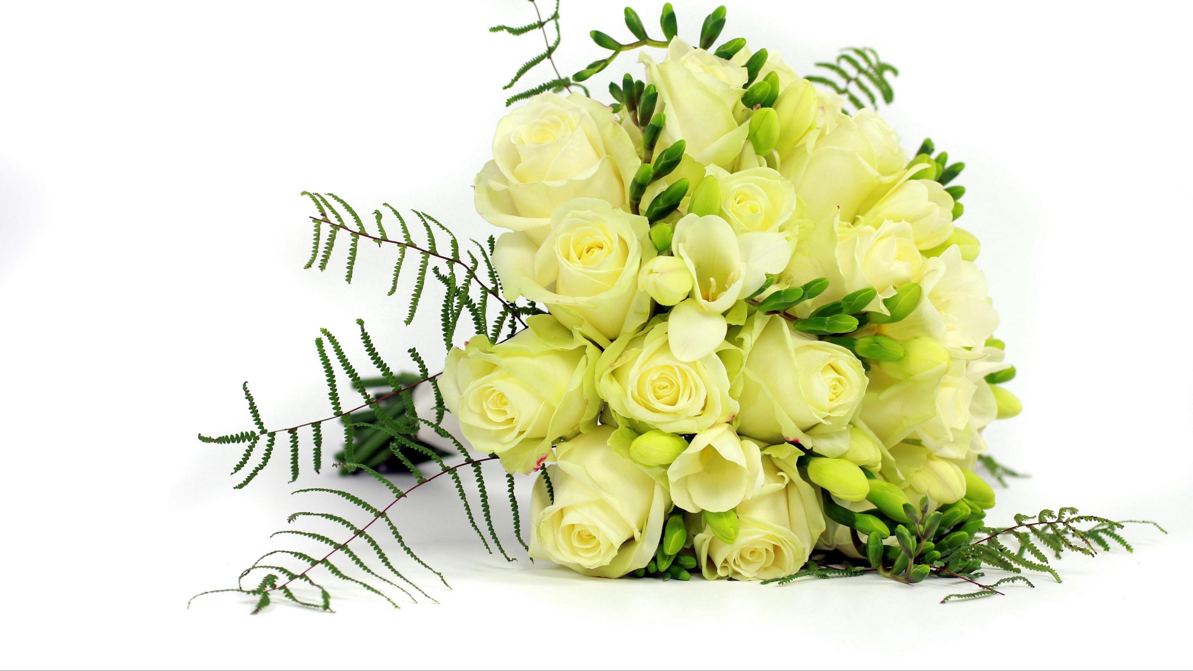 roses freesia bouquet decoration 4k 1540064291 - roses, freesia, bouquet, decoration 4k - Roses, freesia, Bouquet