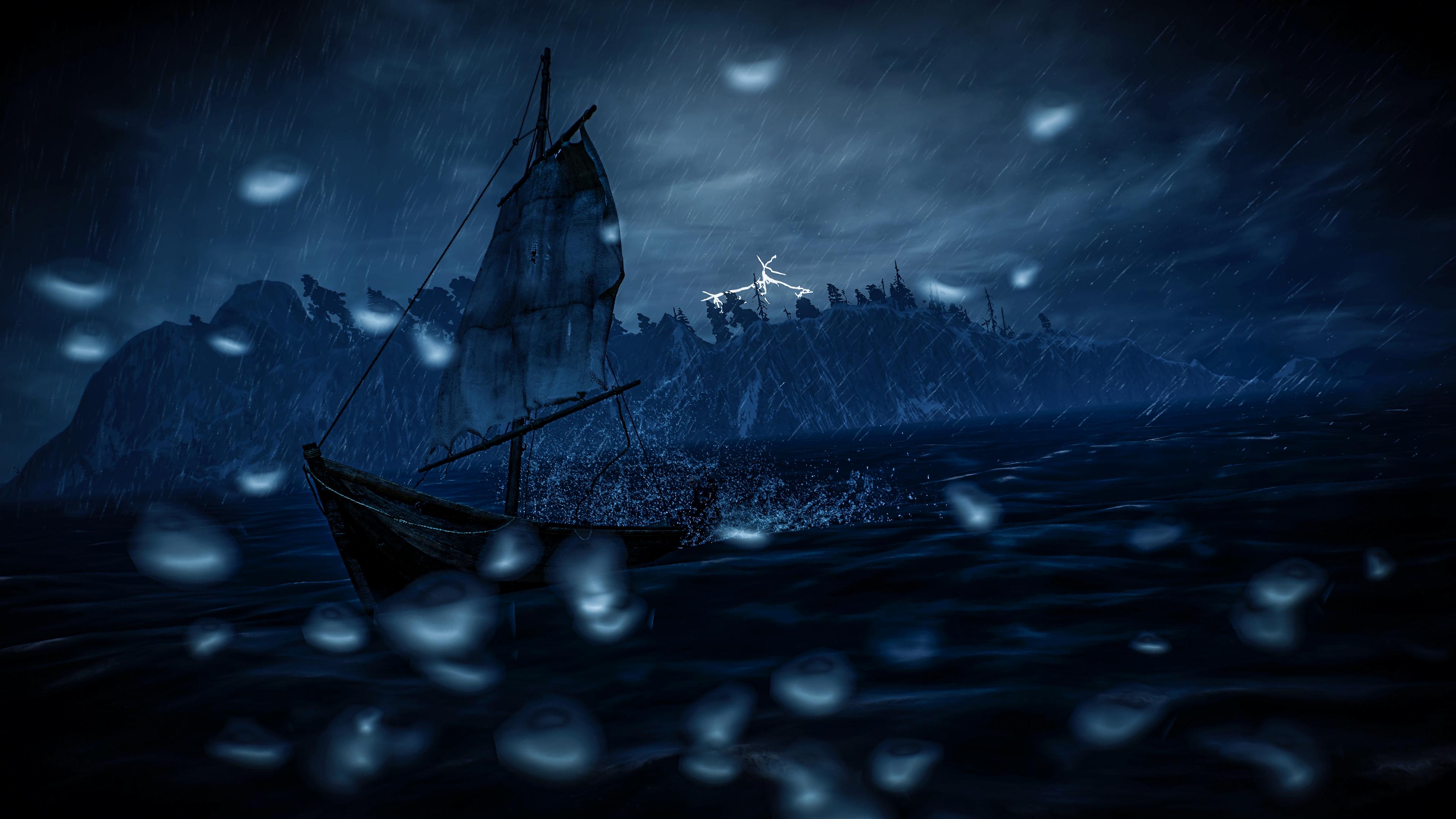 sail boat storm dark 4k 1540575142 - sail, boat, storm, dark 4k - Storm, Sail, Boat