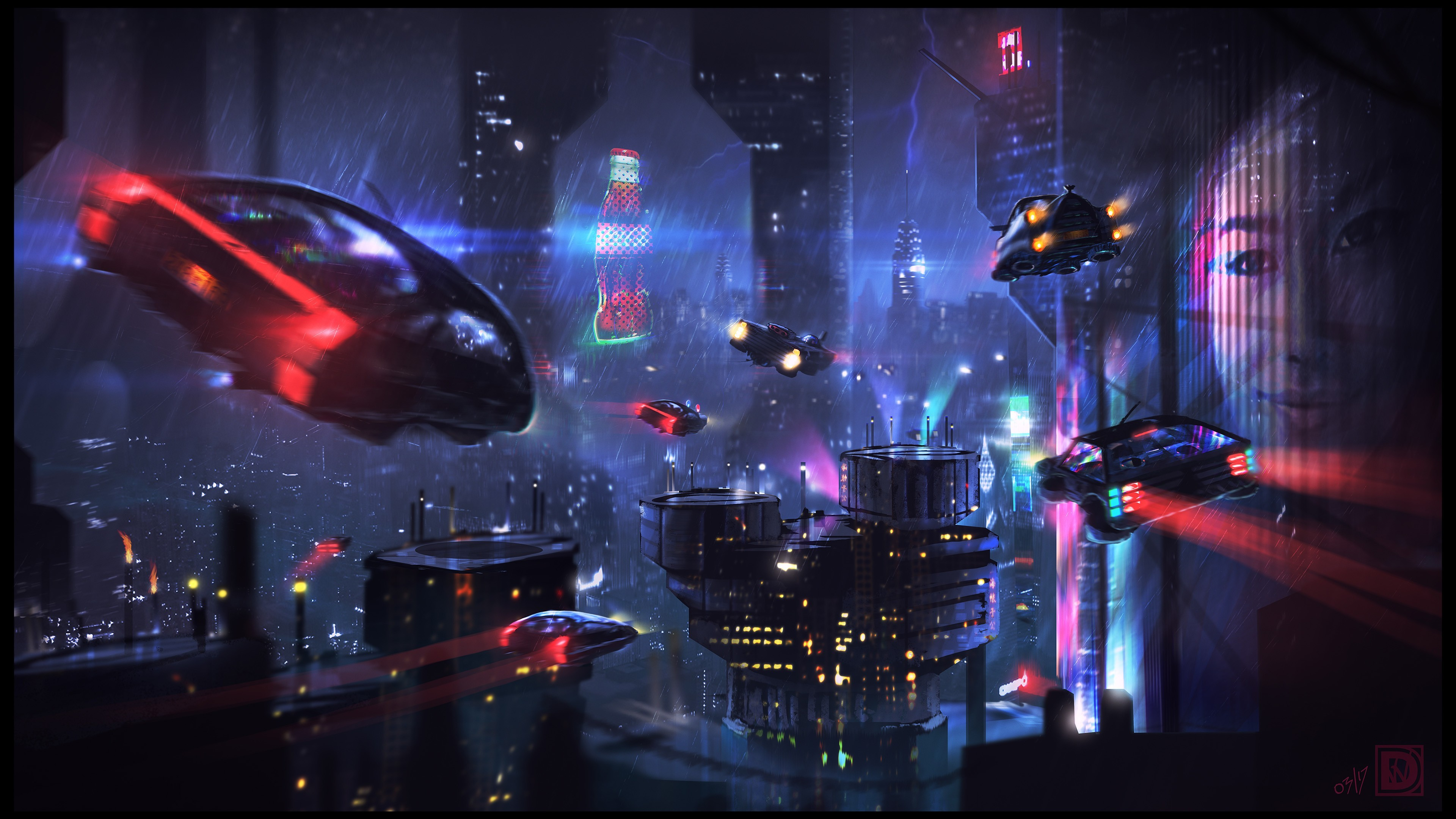 science fiction city 4k 1540749146 - Science Fiction City 4k - science fiction wallpapers, hd-wallpapers, digital art wallpapers, artist wallpapers, 4k-wallpapers