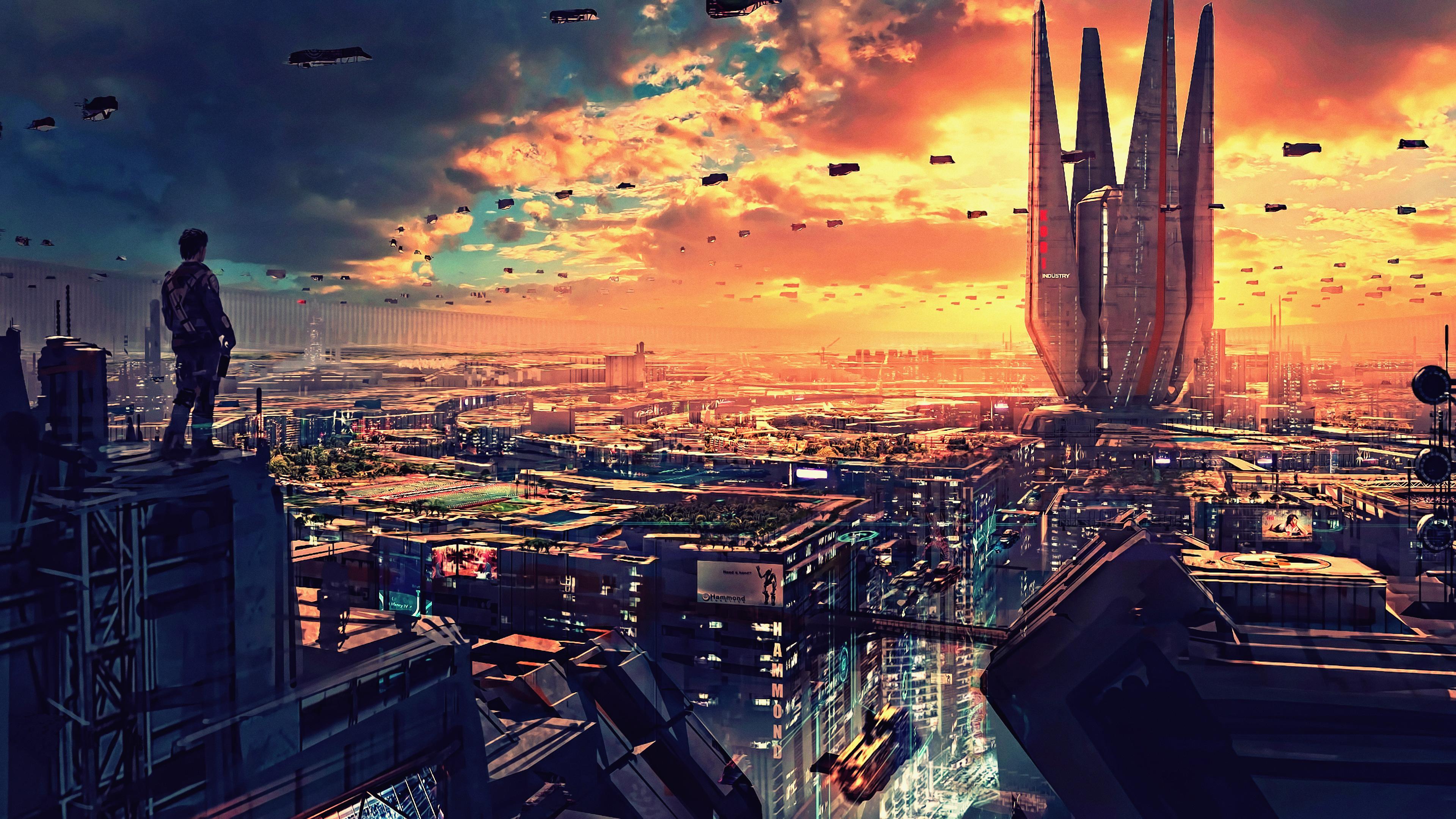 science fiction cityscape futuristic city digital art 4k 1540755072 - Science Fiction Cityscape Futuristic City Digital Art 4k - hd-wallpapers, digital art wallpapers, cityscape wallpapers, artwork wallpapers, artist wallpapers, 4k-wallpapers