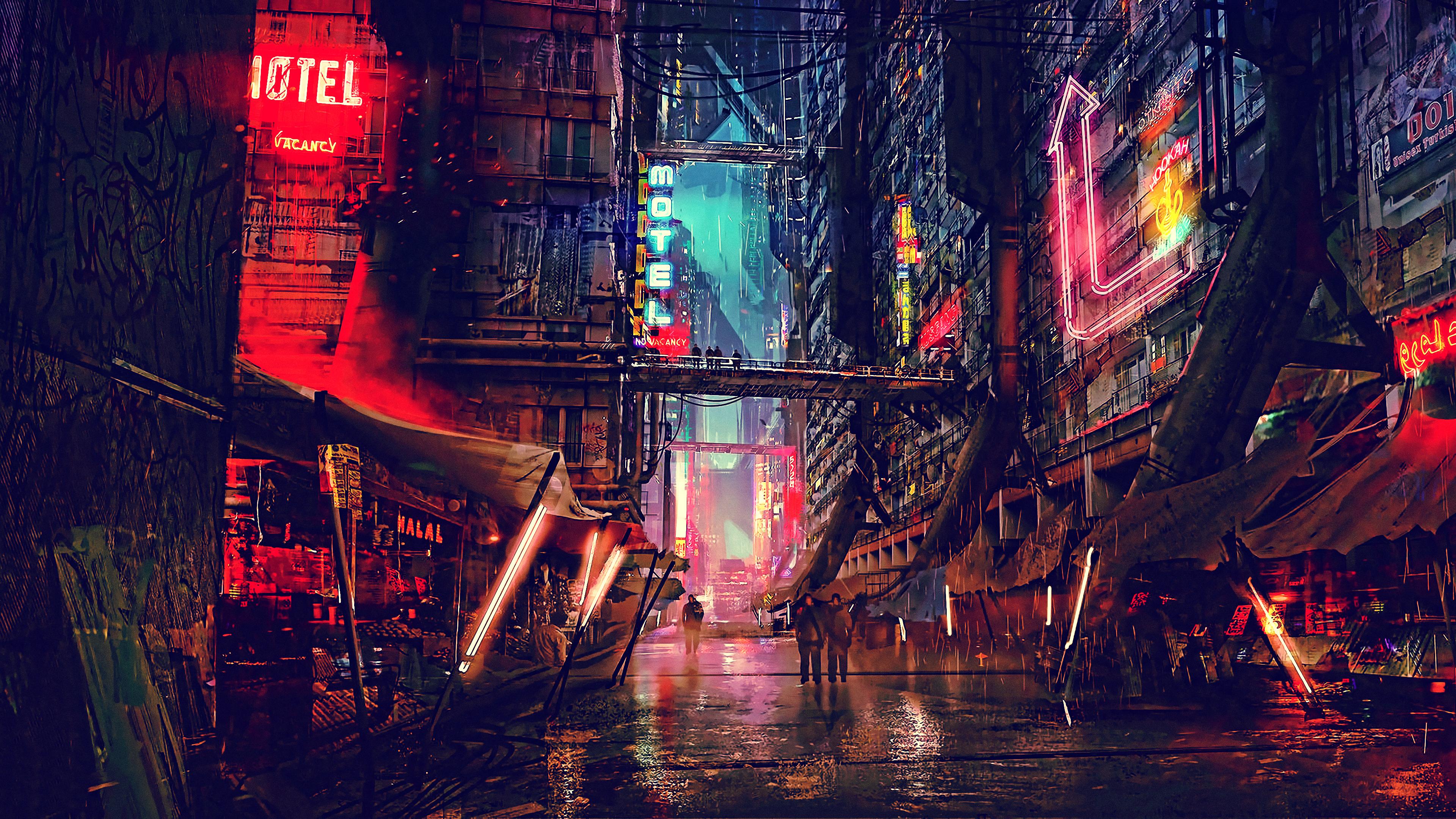 science fiction cyberpunk futuristic city digital art 4k 1540754826 - Science Fiction Cyberpunk Futuristic City Digital Art 4k - street wallpapers, science fiction wallpapers, lights wallpapers, hd-wallpapers, future wallpapers, digital art wallpapers, cyberpunk wallpapers, city wallpapers, artwork wallpapers, artist wallpapers, 4k-wallpapers