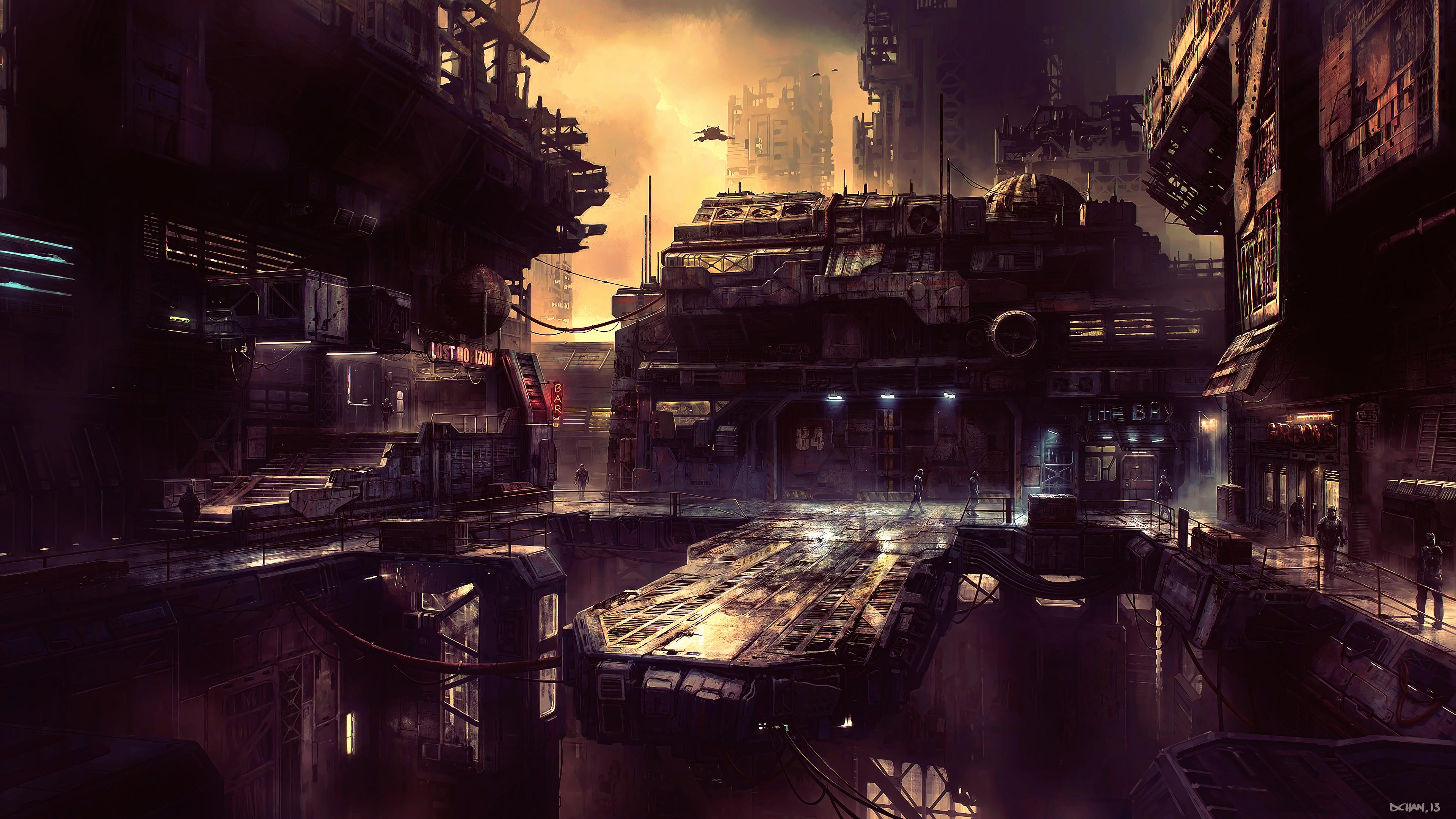 science fiction future city 4k 1540755054 - Science Fiction Future City 4k - scifi wallpapers, science fiction wallpapers, hd-wallpapers, future wallpapers, digital art wallpapers, city wallpapers, artwork wallpapers, artist wallpapers, 4k-wallpapers