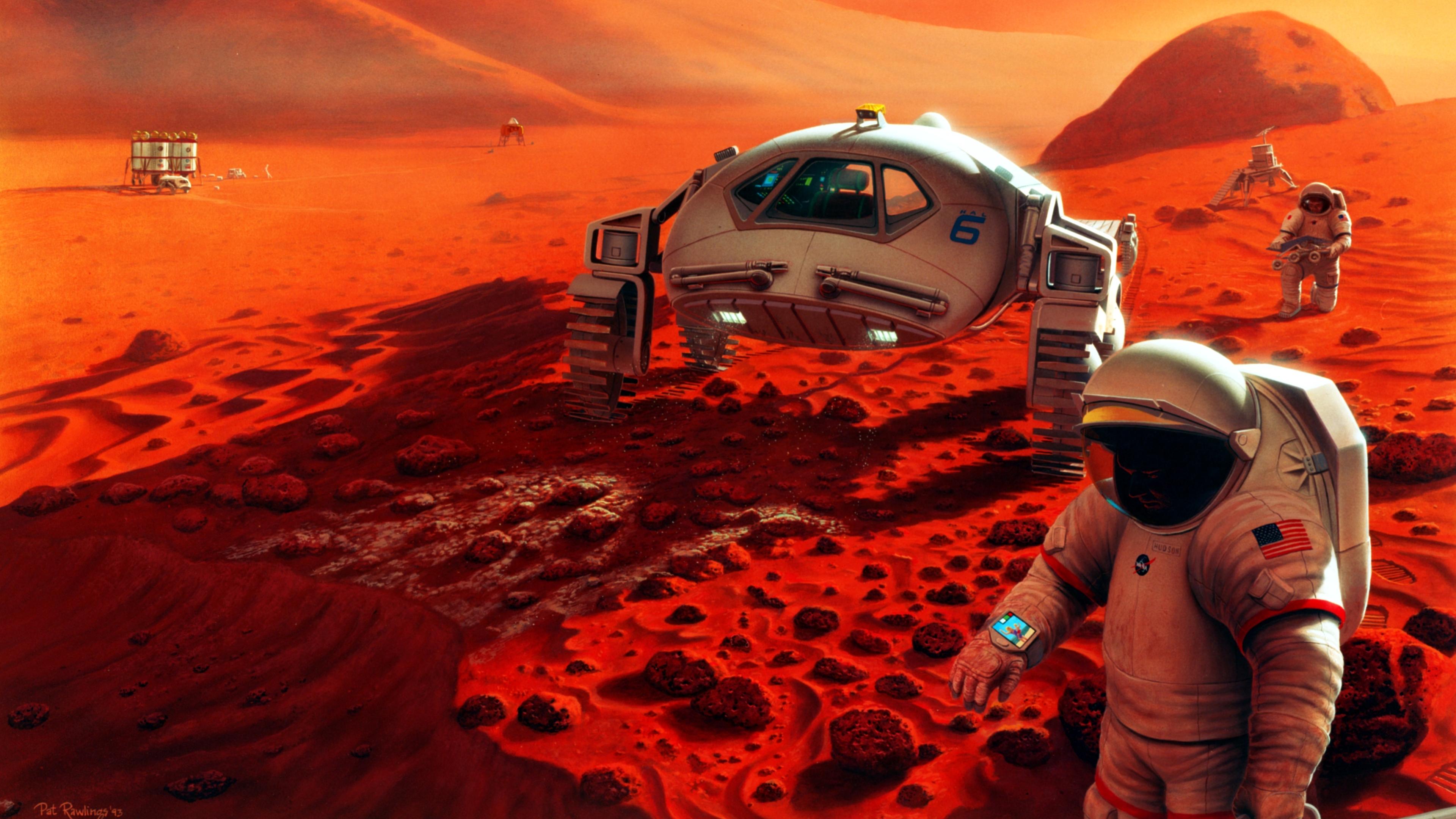 scifi astronaut space mars rover 4k 1540756158 - Scifi Astronaut Space Mars Rover 4k - space wallpapers, scifi wallpapers, mars wallpapers, hd-wallpapers, astronaut wallpapers, artwork wallpapers, 4k-wallpapers