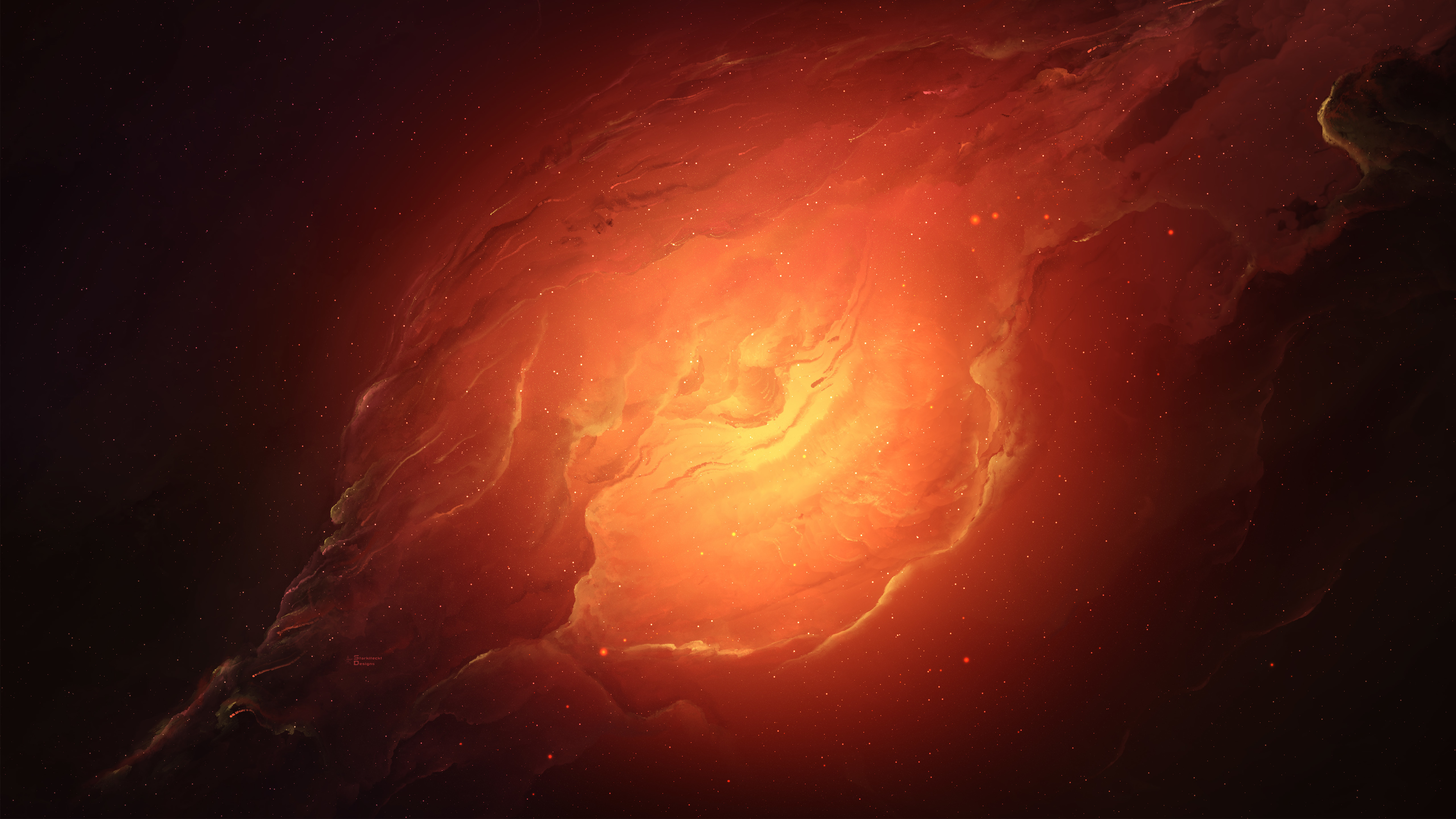 scifi nebula orange space 5k 1540752906 - Scifi Nebula Orange Space 5k - space wallpapers, scifi wallpapers, nebula wallpapers, hd-wallpapers, 5k wallpapers, 4k-wallpapers
