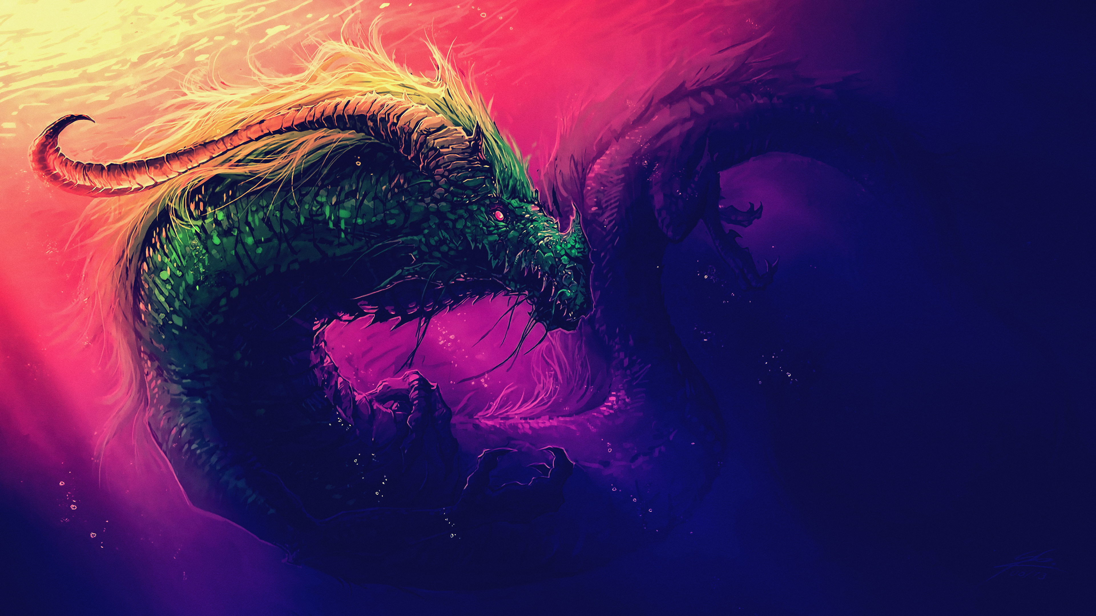 sea serpent digital art 4k 1540756226 - Sea Serpent Digital Art 4k - sea serpent wallpapers, hd-wallpapers, fantasy wallpapers, digital art wallpapers, creature wallpapers, artwork wallpapers, artist wallpapers, 4k-wallpapers