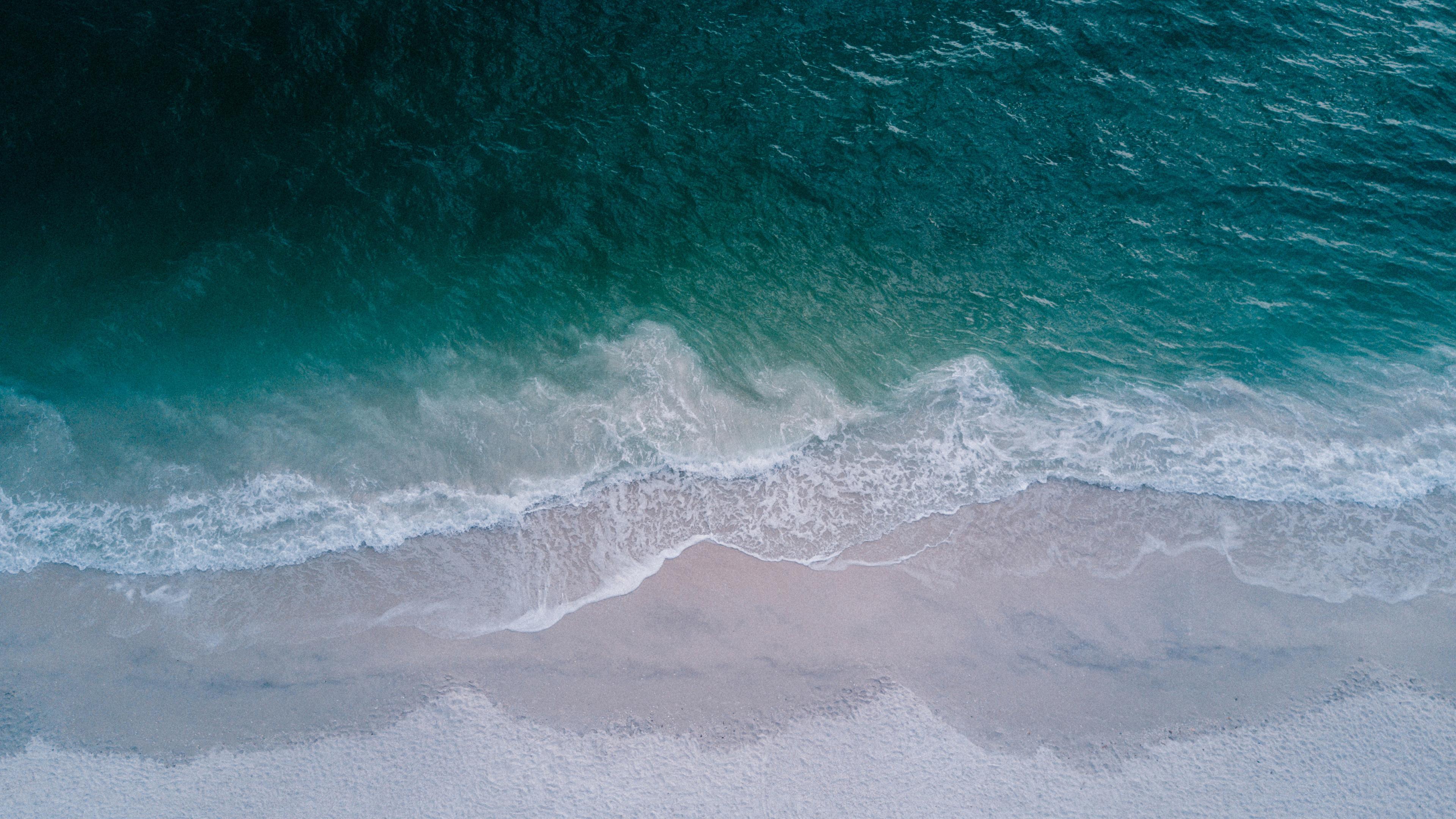 seashore top view beach 4k 1540135853 - Seashore Top View Beach 4k - waves wallpapers, seashore wallpapers, seascape wallpapers, nature wallpapers, hd-wallpapers, beach wallpapers, 4k-wallpapers